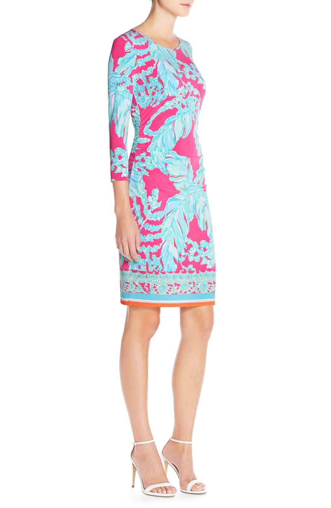 Alternate Image 3  - Lilly Pulitzer® 'Madison' Ruched Jersey Sheath Dress