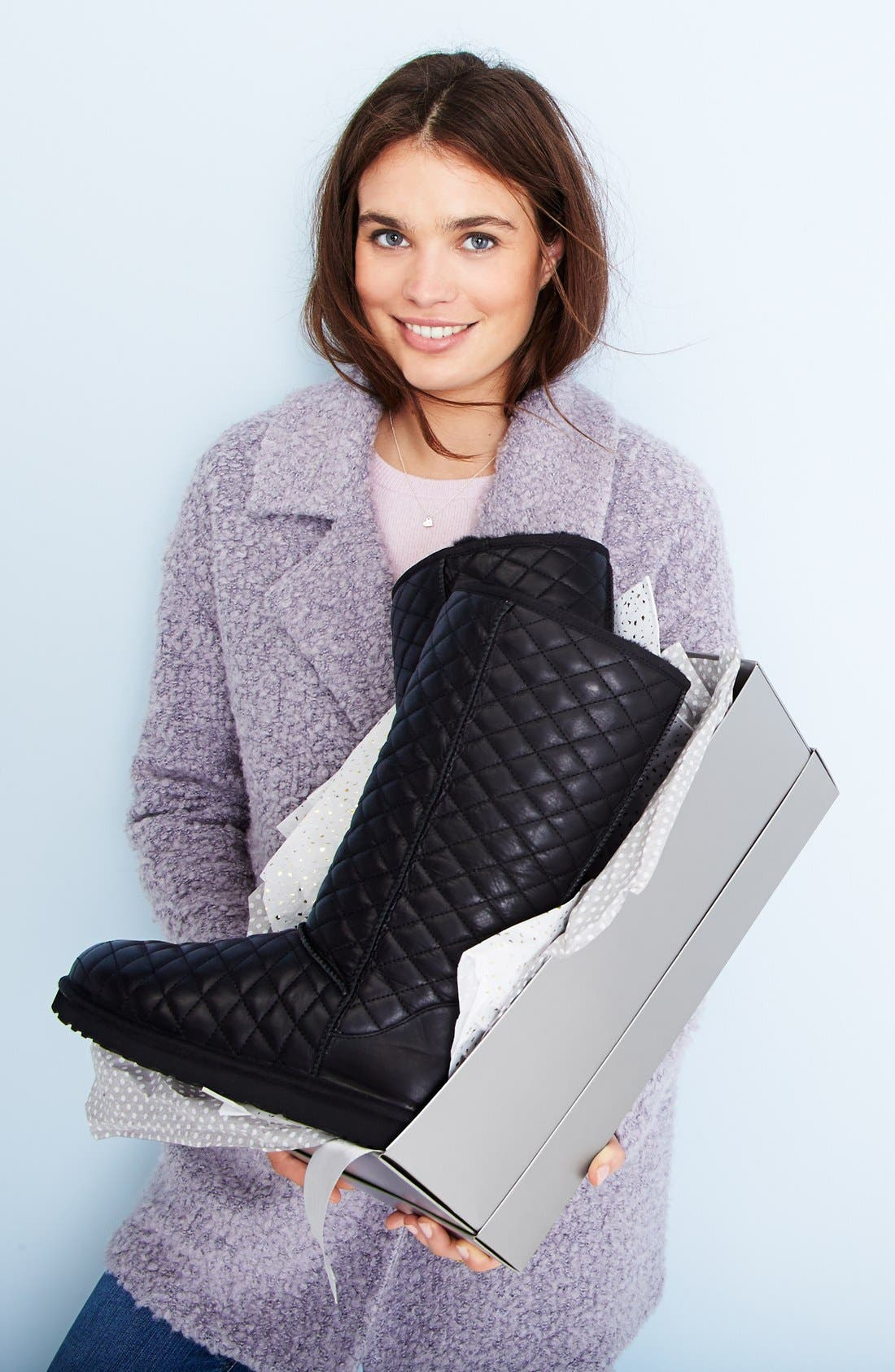 Alternate Image 5  - UGG® 'Classic - Tall' Diamond Quilted Boot (Women)