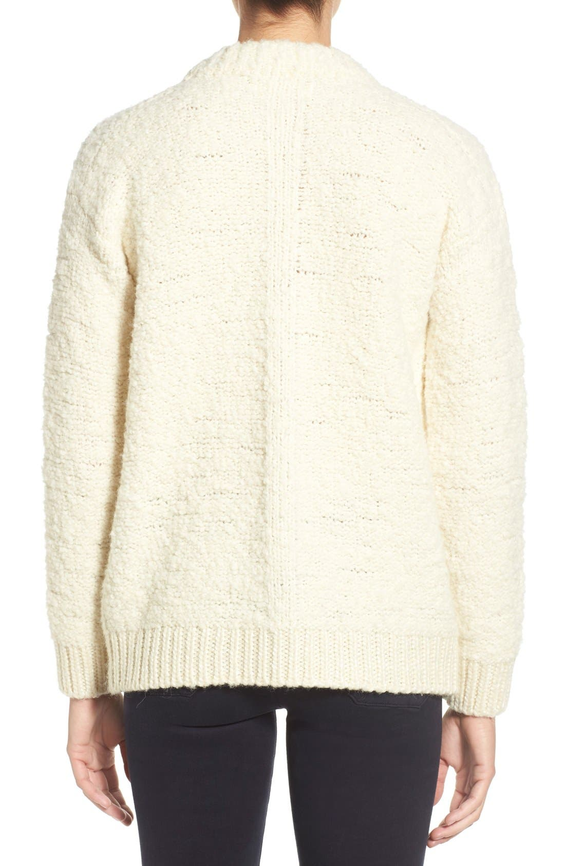 Alternate Image 2  - M.i.h. Jeans 'Bird' Bouclé Crewneck Sweater