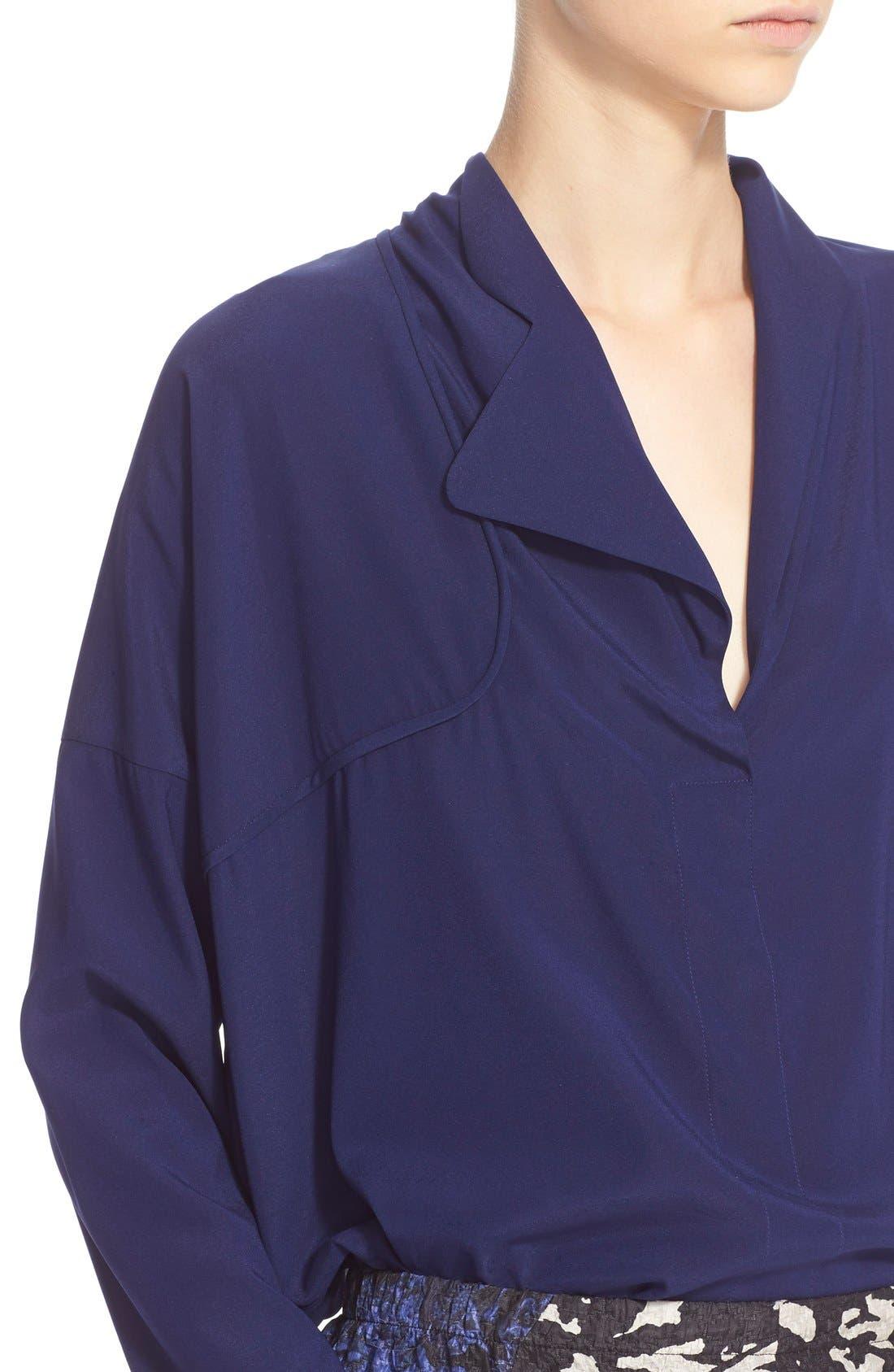 Alternate Image 6  - Zero + Maria Cornejo 'Edi' Stretch Silk Charmeuse Shirt
