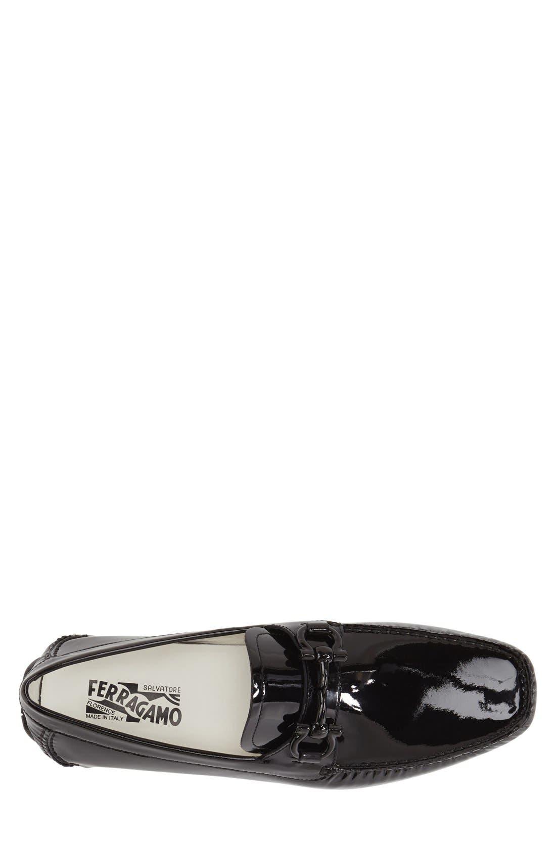 Alternate Image 3  - Salvatore Ferragamo 'Parigi' Patent Leather Driving Shoe (Men)