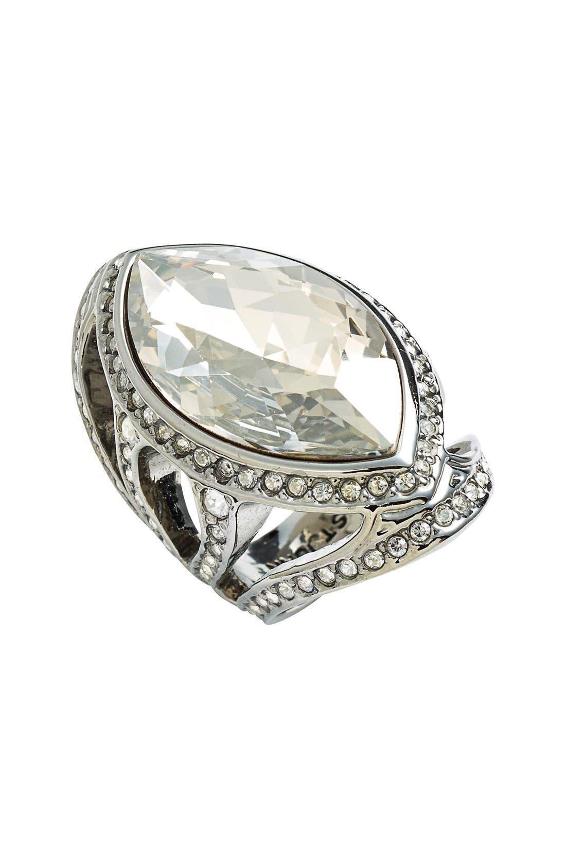 Main Image - St. John Collection Swarovski Crystal Cocktail Ring