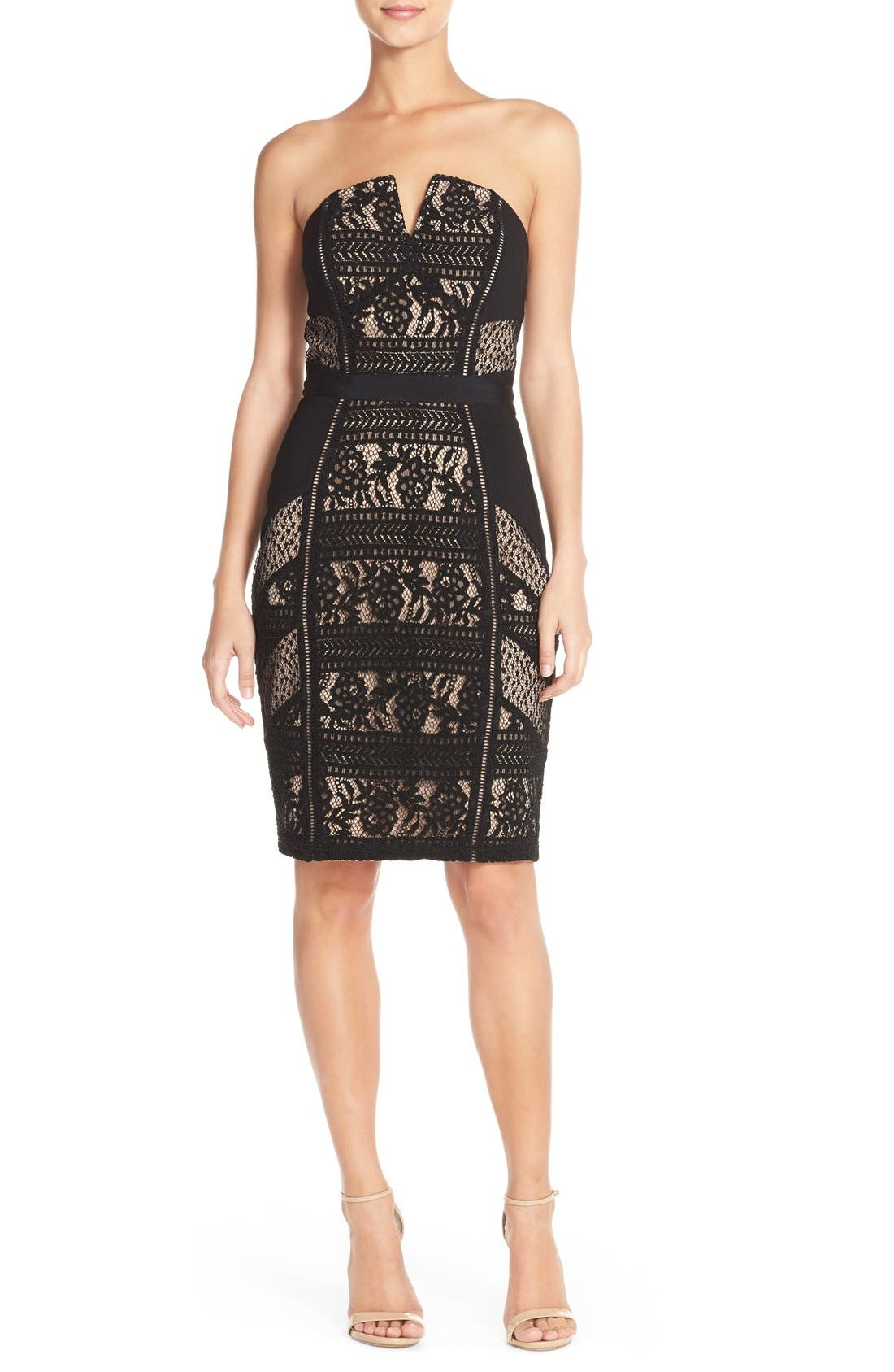 Main Image - Adelyn Rae Lace Strapless Dress