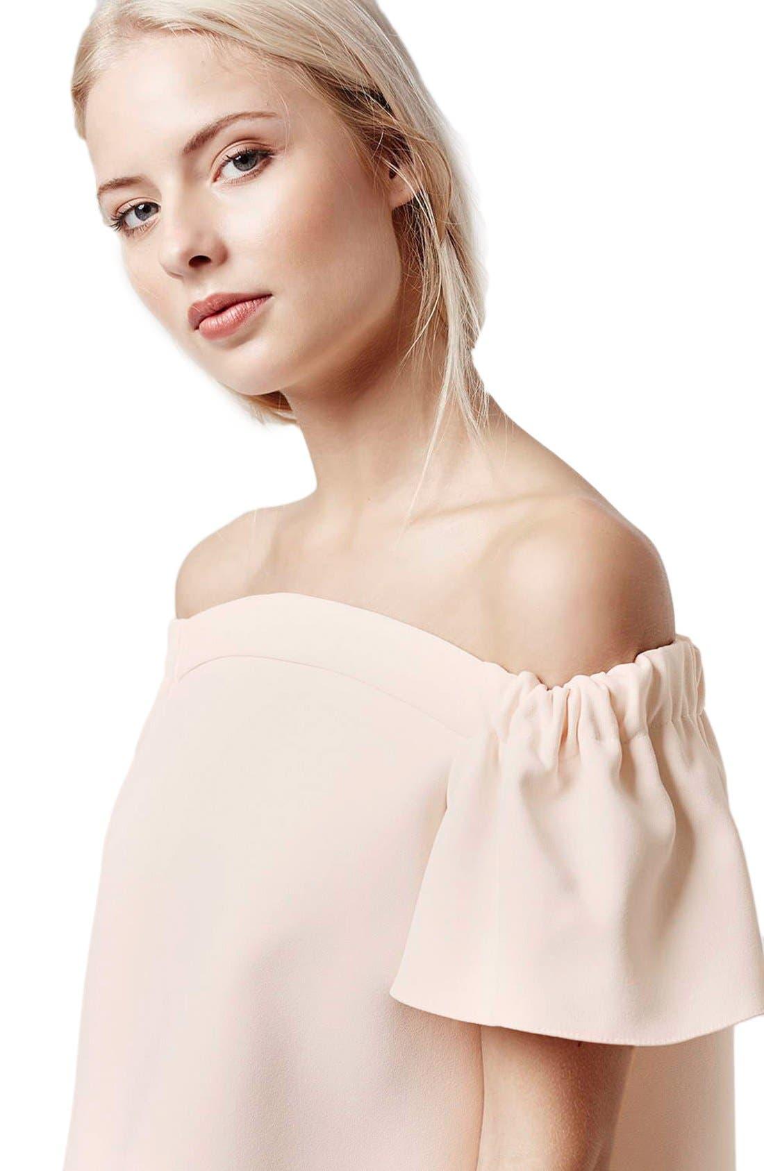 Alternate Image 5  - Topshop Structured Bardot Top (Petite)