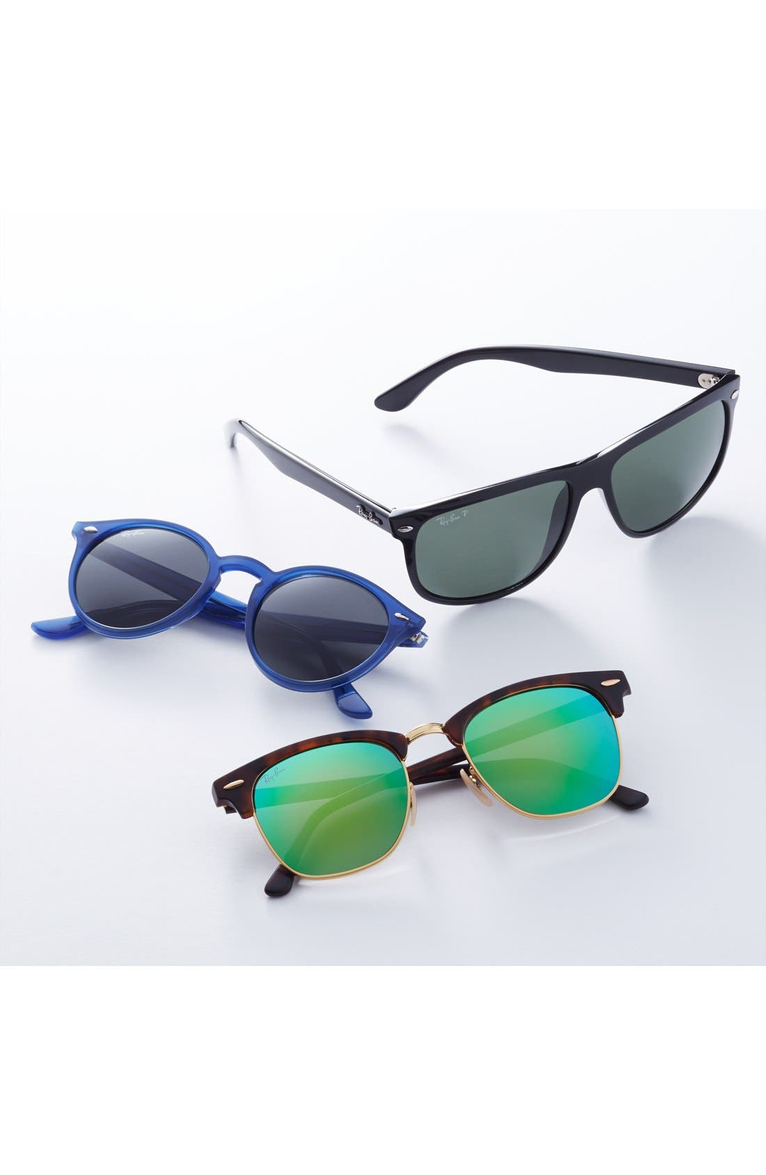 Alternate Image 3  - Ray-Ban 'Flash Clubmaster' 51mm Sunglasses