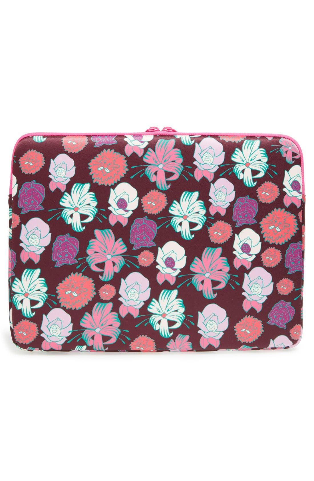 Alternate Image 2  - MARC BY MARC JACOBS x Disney® 'Alice in Wonderland - Laughing Flowers' Computer Case (13 Inch)