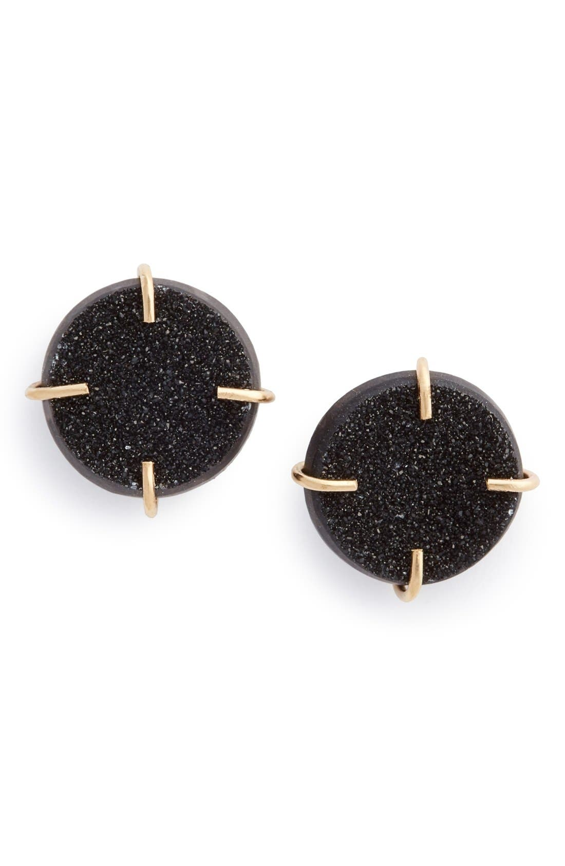 MELISSA JOY MANNING Drusy Stone Earrings