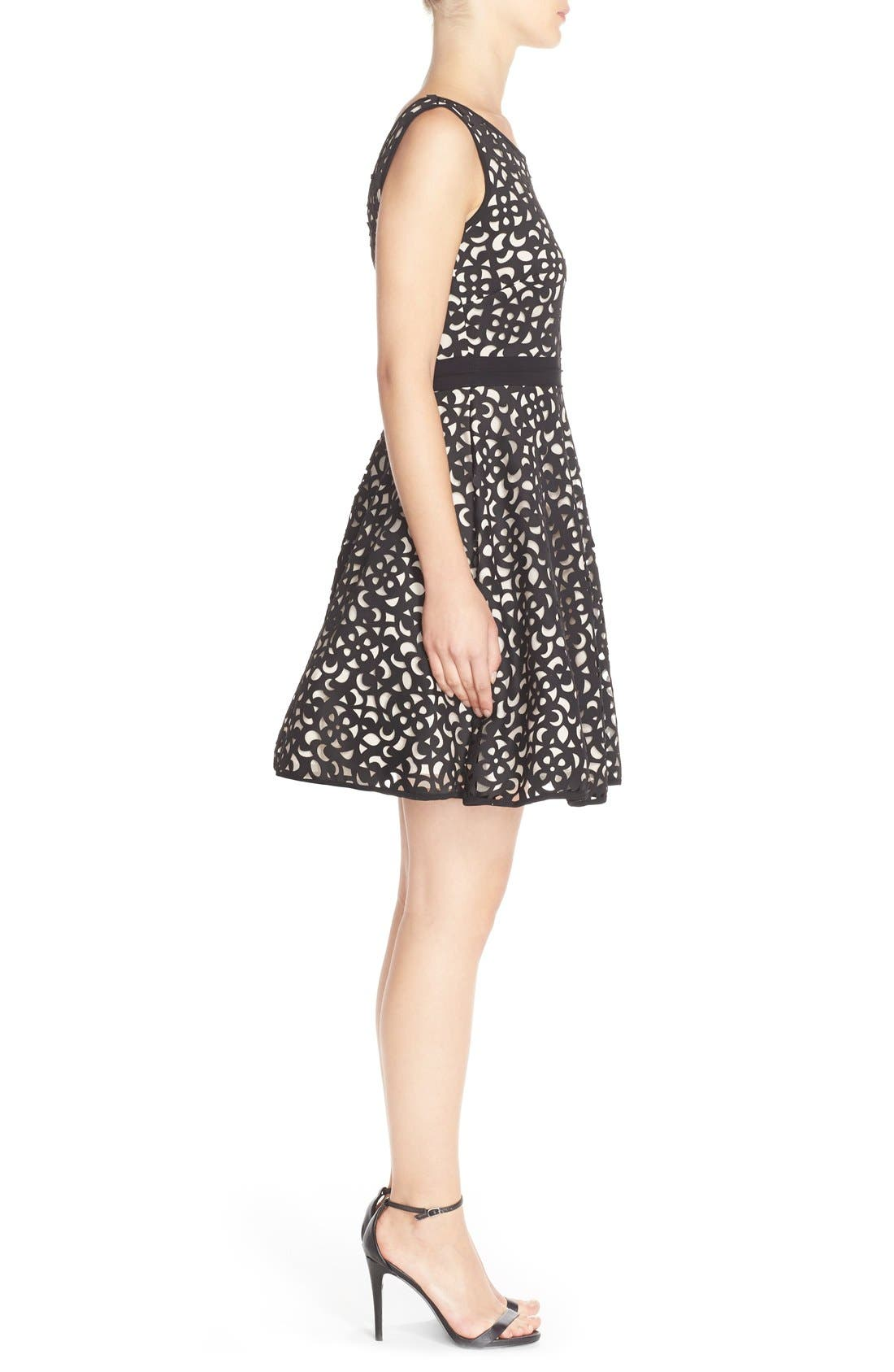 Alternate Image 3  - XscapeLaser Cut Scuba Fit & Flare Dress