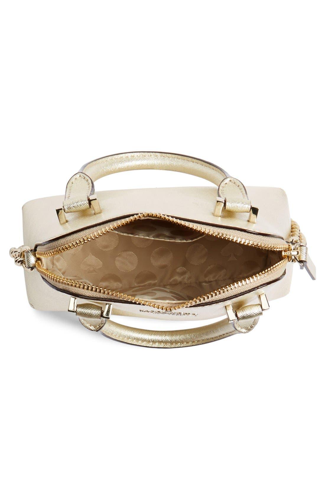 Alternate Image 4  - kate spade new york 'cedar street - mini maise' metallic leather crossbody bag