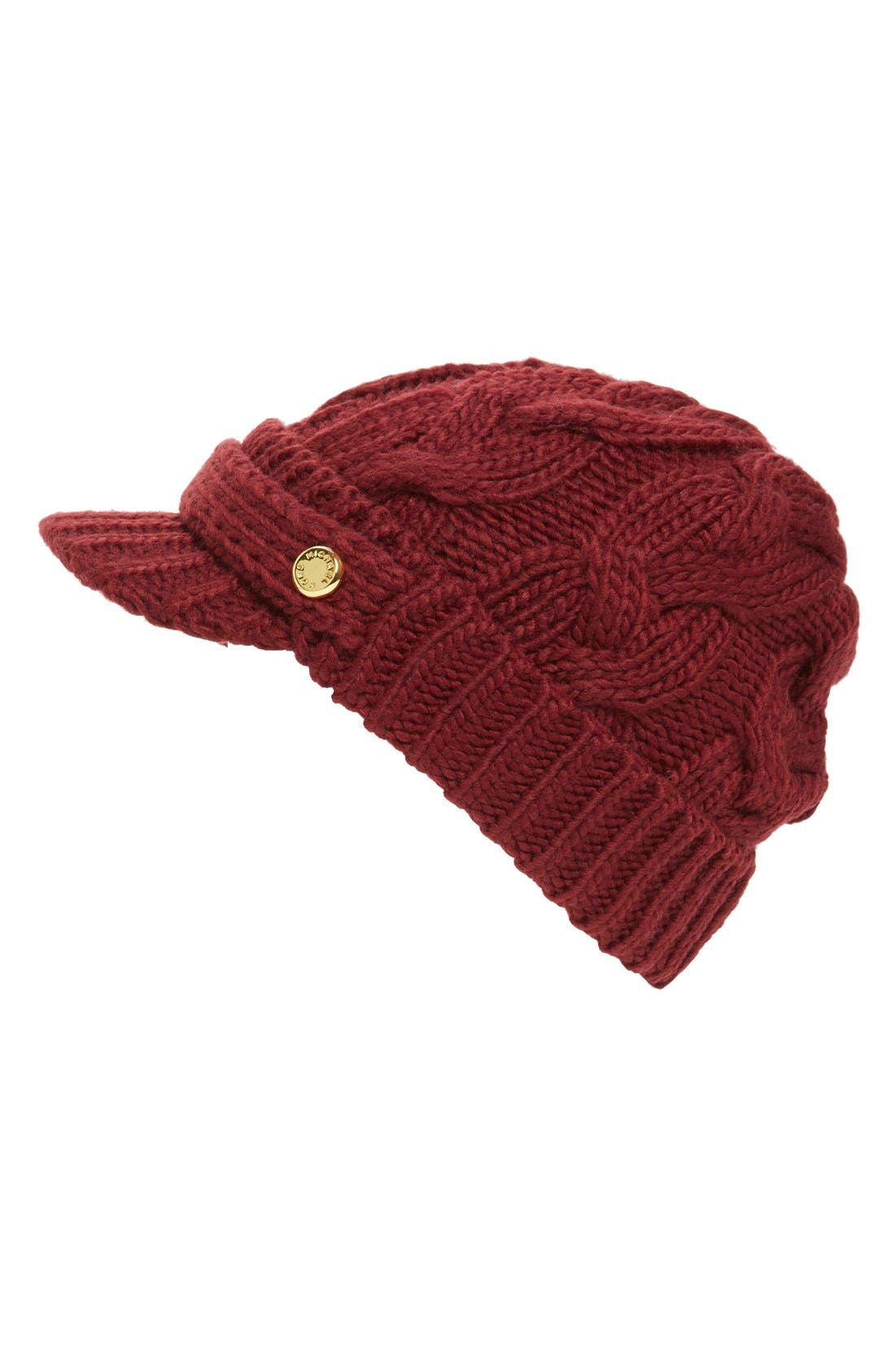 Main Image - MICHAEL Michael Kors Cable Knit Newsboy Hat