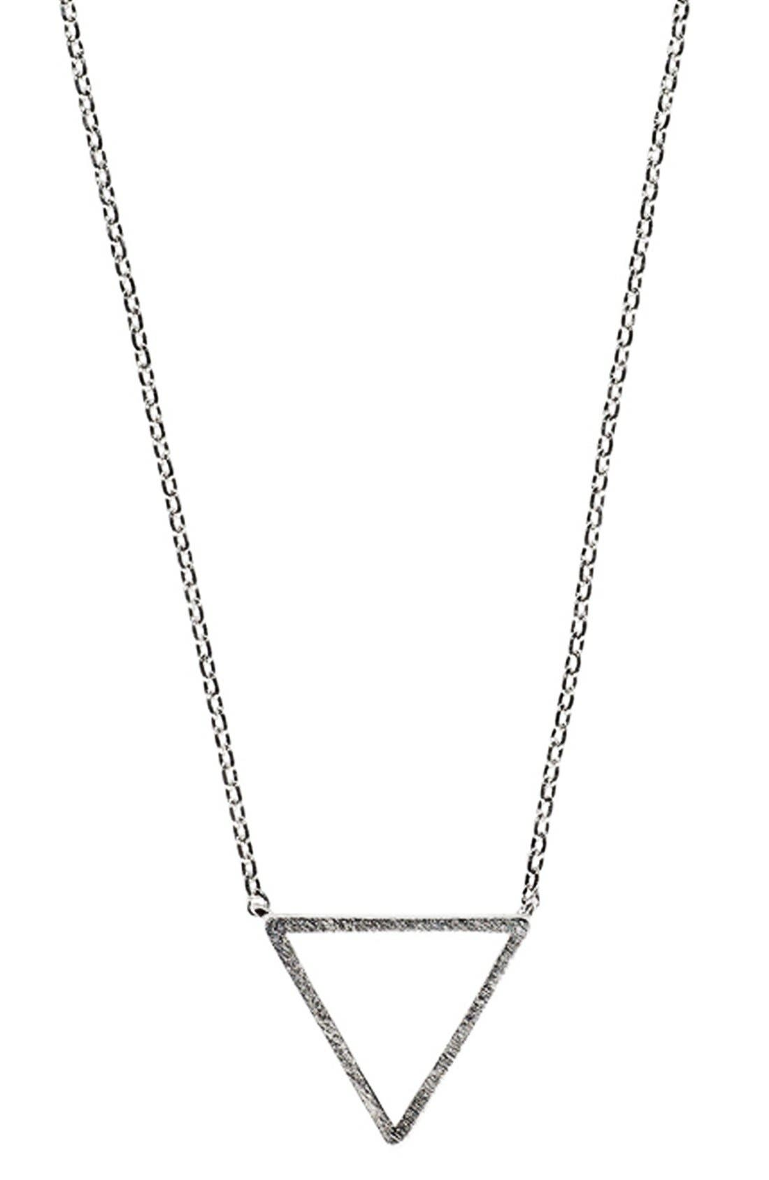 Main Image - Wanderlust + Co. Triangle Pendant Necklace