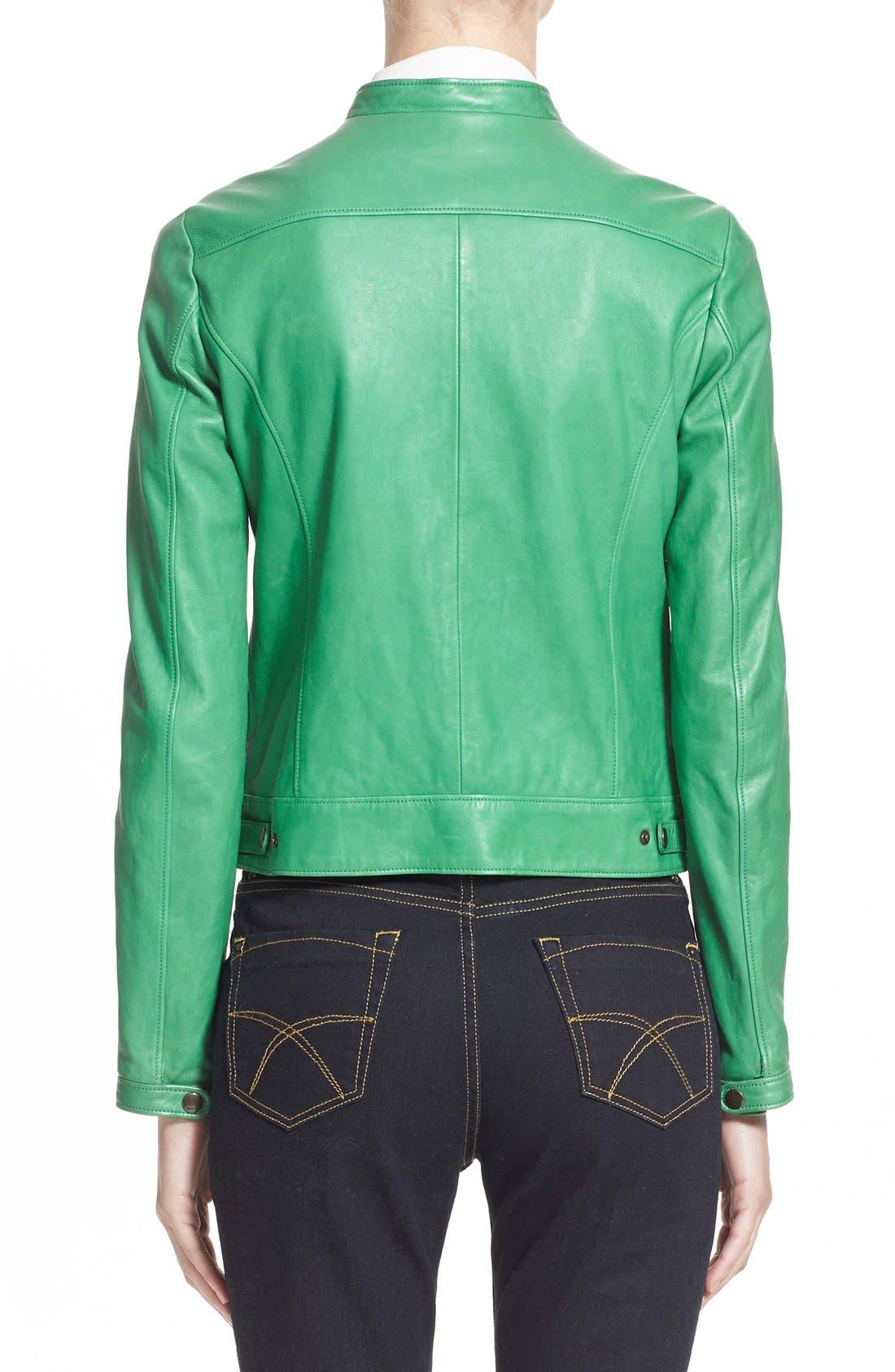 Alternate Image 2  - Tomas Maier Nappa Leather Moto Jacket