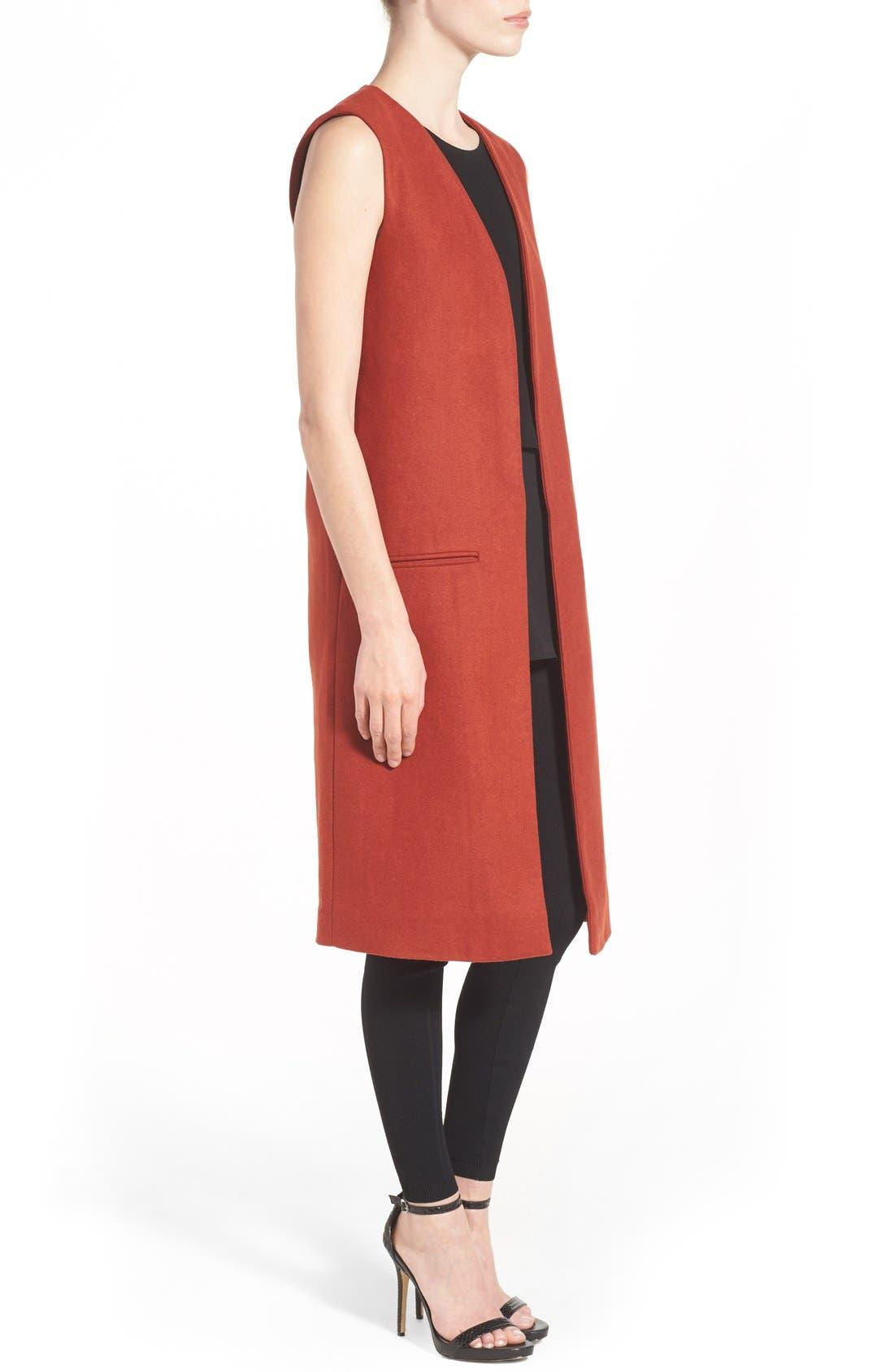 Alternate Image 3  - Missguided Sleeveless Long Blazer