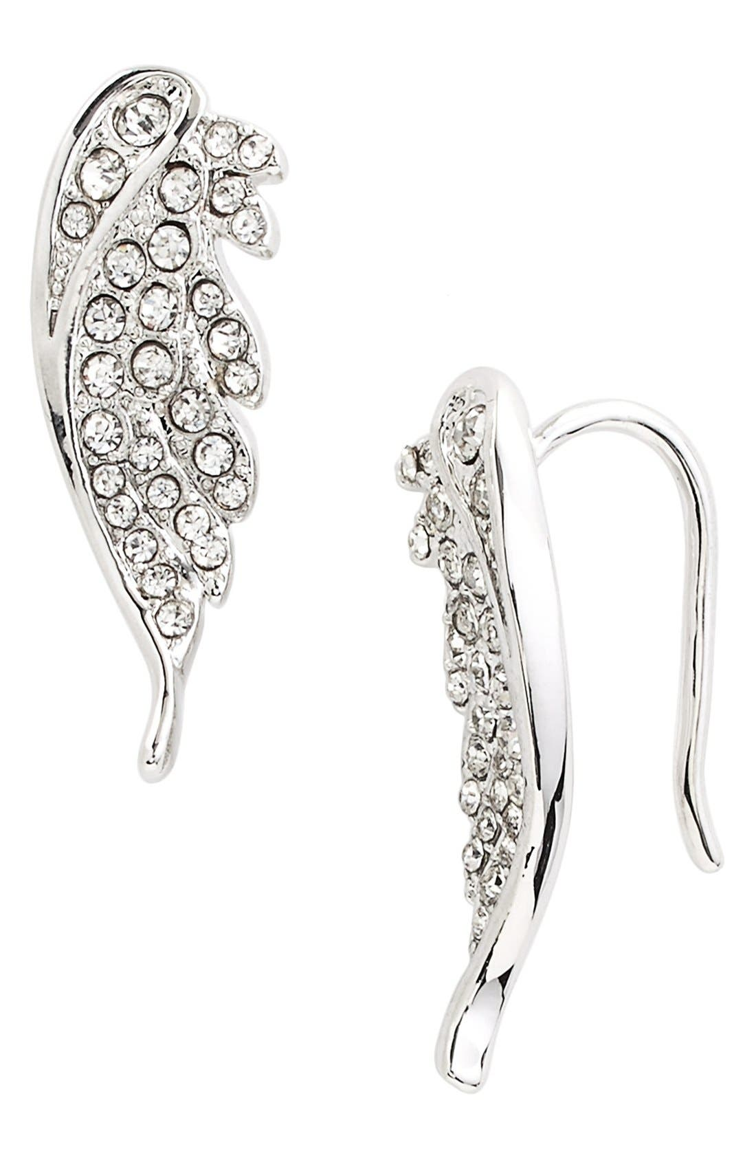 Alternate Image 1 Selected - Rebecca Minkoff Pavé Wing Ear Crawlers