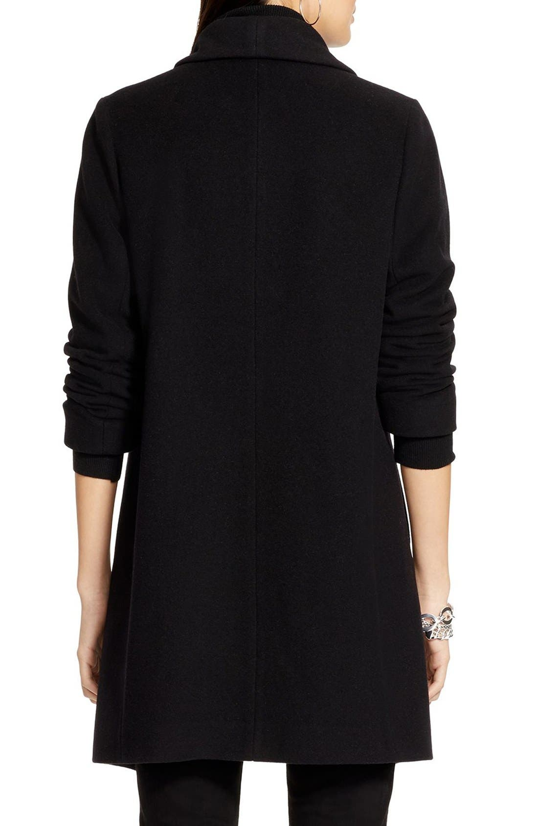 Alternate Image 2  - Lauren Ralph Lauren Tab Front Asymmetrical Wool Blend Coat