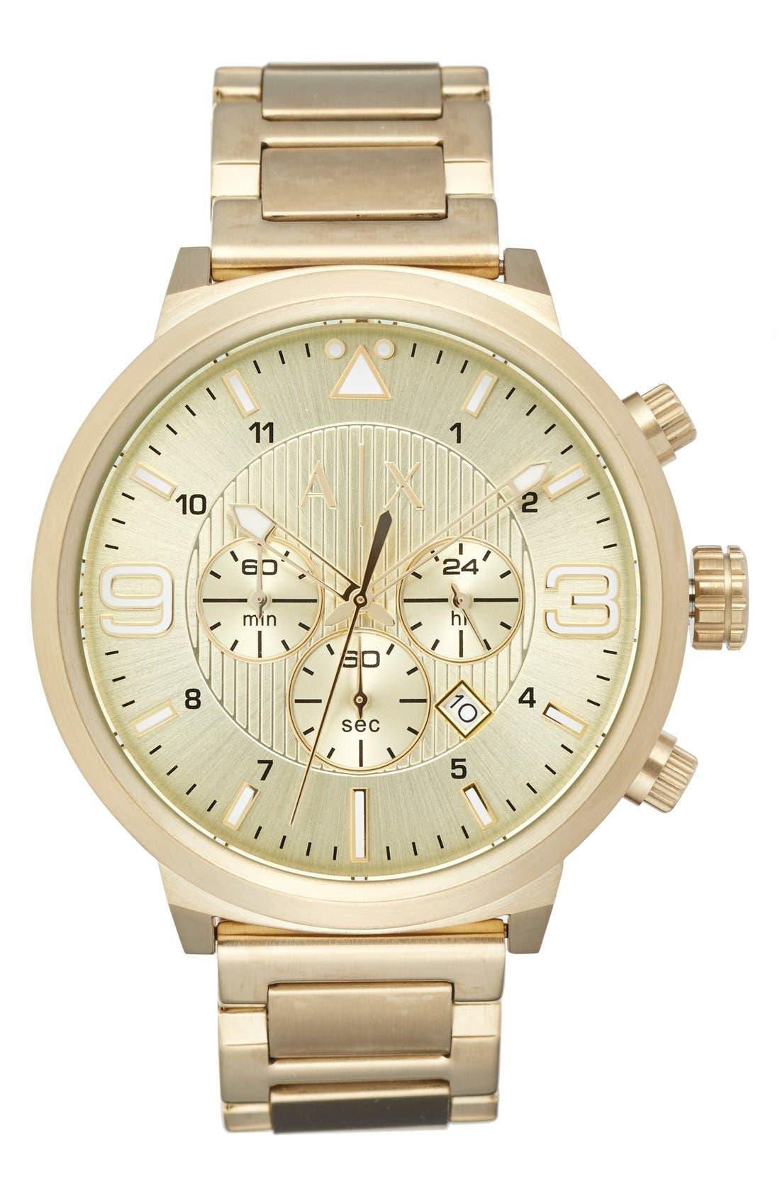 AX ARMANI EXCHANGE Chronograph Bracelet Watch, 49mm