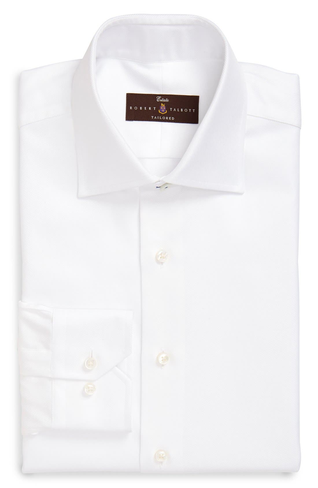 Robert Talbott Trim Fit Solid Dress Shirt