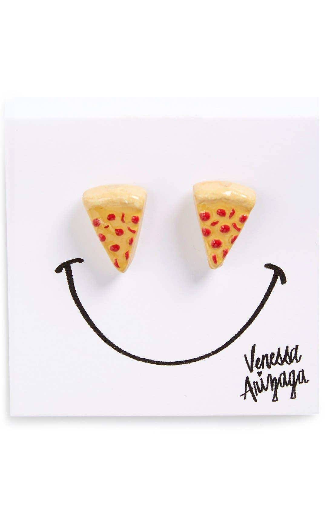 Alternate Image 2  - Venessa Arizaga Pizza Slice Stud Earrings