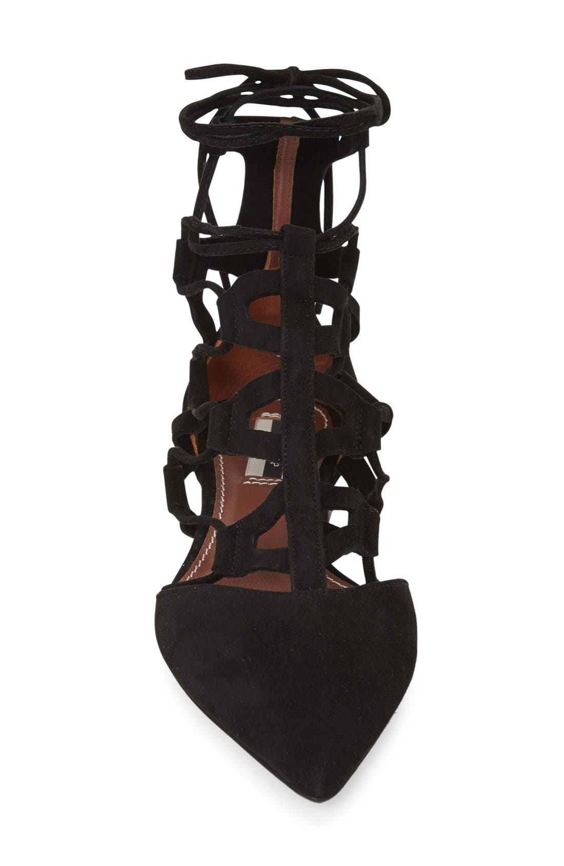 Alternate Image 3  - Topshop 'Posy' Pointy Toe Ghillie Flat (Women)