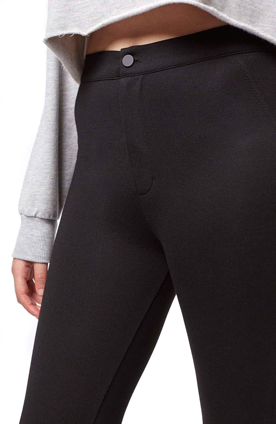 Alternate Image 5  - Topshop Seamed Ponte Trouser Leggings