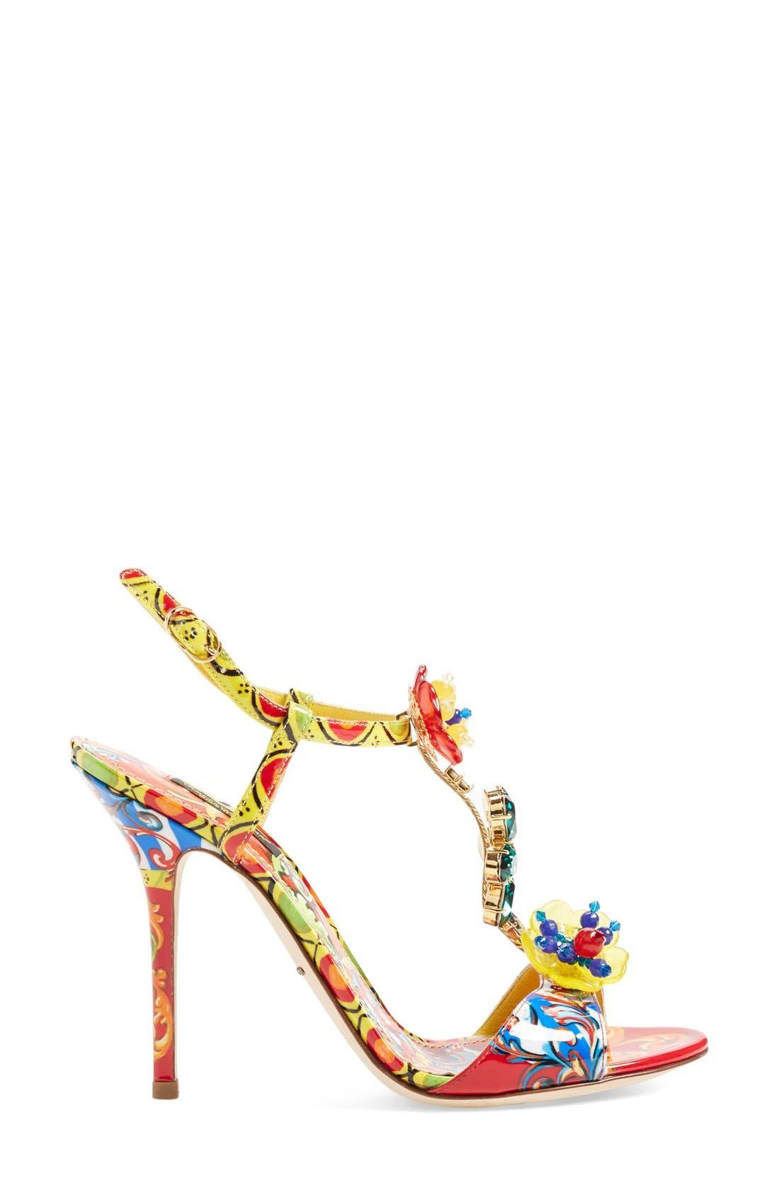 Alternate Image 4  - Dolce&Gabbana Jeweled T-Strap Sandal (Women)