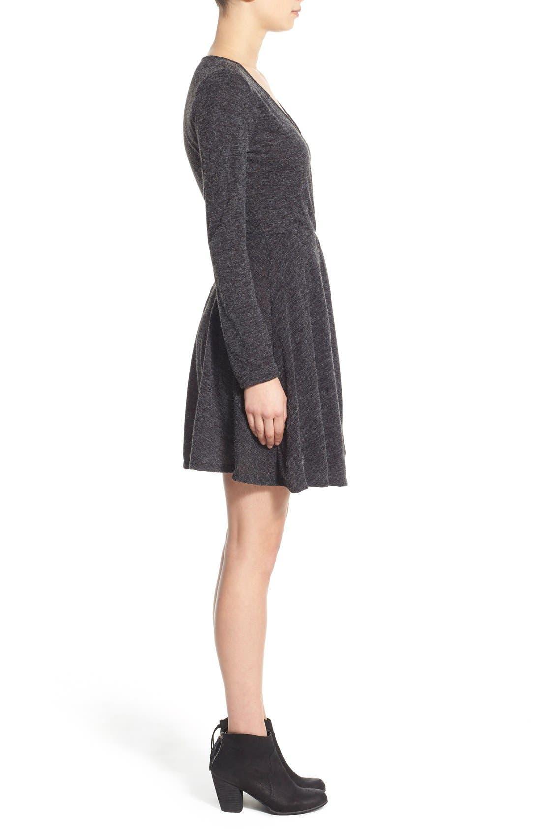 Alternate Image 3  - jella c. Long Sleeve Wrap Dress