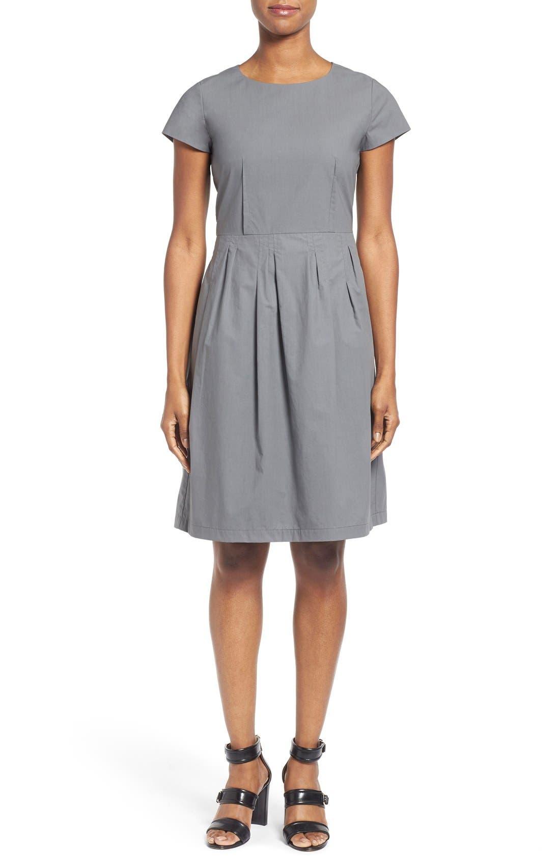 Alternate Image 2  - Lafayette 148 New York 'Gina' Cap Sleeve Fit & Flare Dress