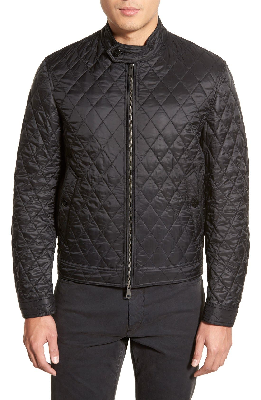 Main Image - Burberry Brit 'Howson' Quilted Bomber Jacket