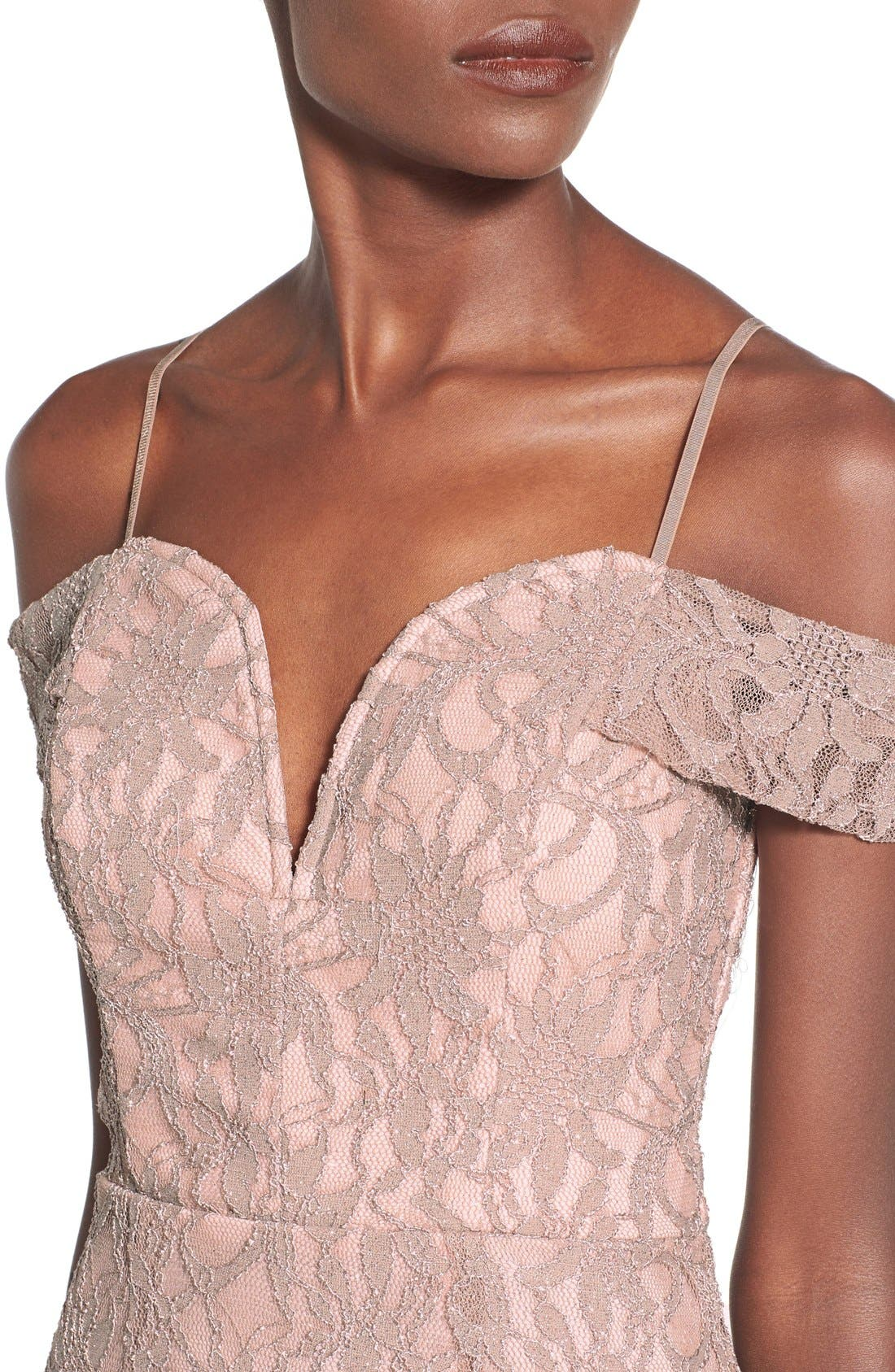 Alternate Image 5  - Way-In Lace Off the Shoulder Dress