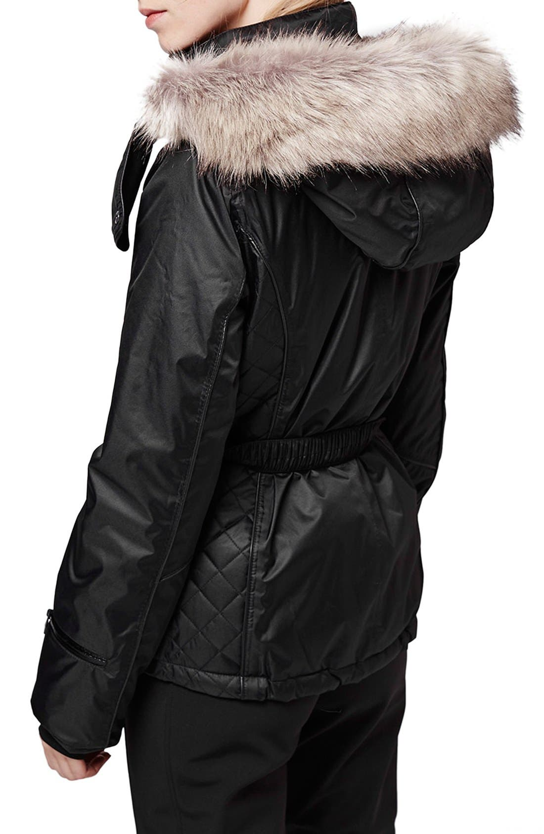 Alternate Image 3  - Topshop 'Catelyn' Faux Fur Belted Jacket
