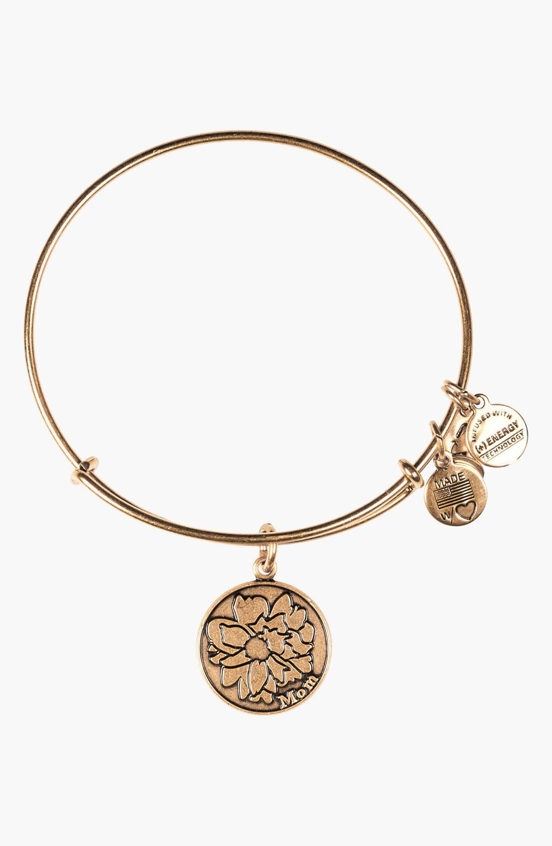 Main Image - Alex and Ani 'Mom' Adjustable Wire Bangle