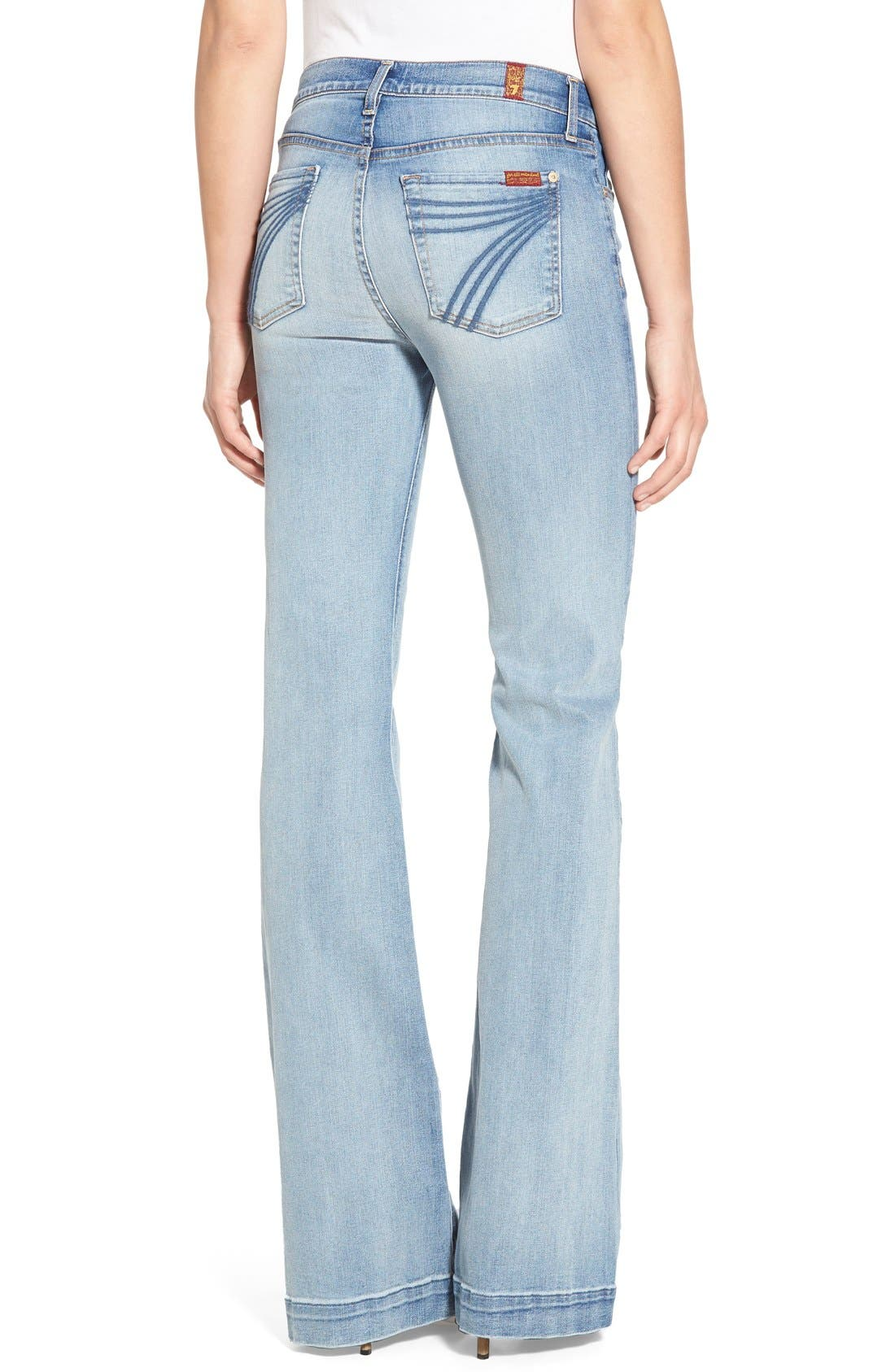 Alternate Image 2  - 7 For All Mankind® 'Dojo' Wide Leg Jeans