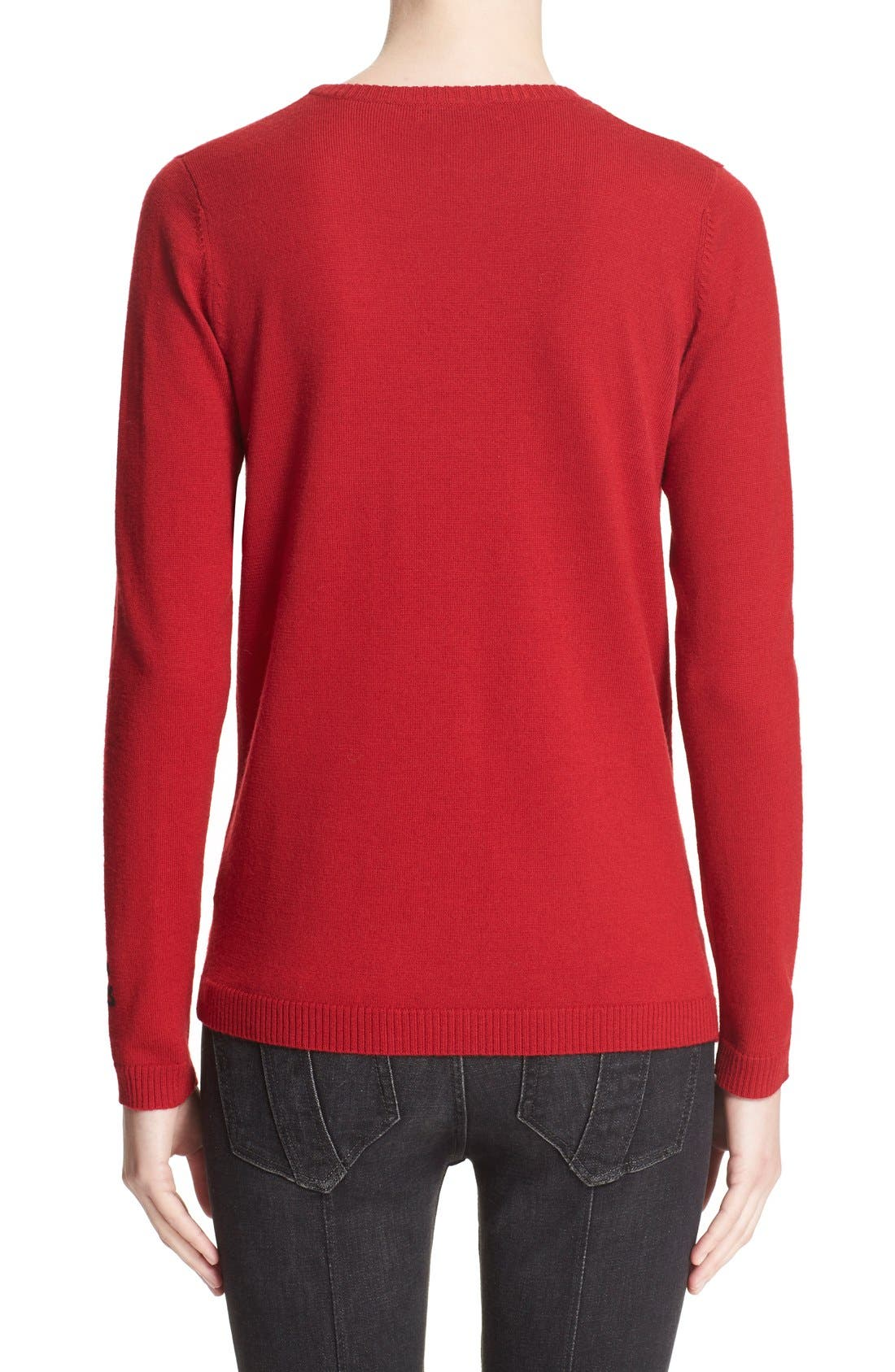 Alternate Image 2  - Bella Freud 'Star Studded' Crewneck Wool Sweater
