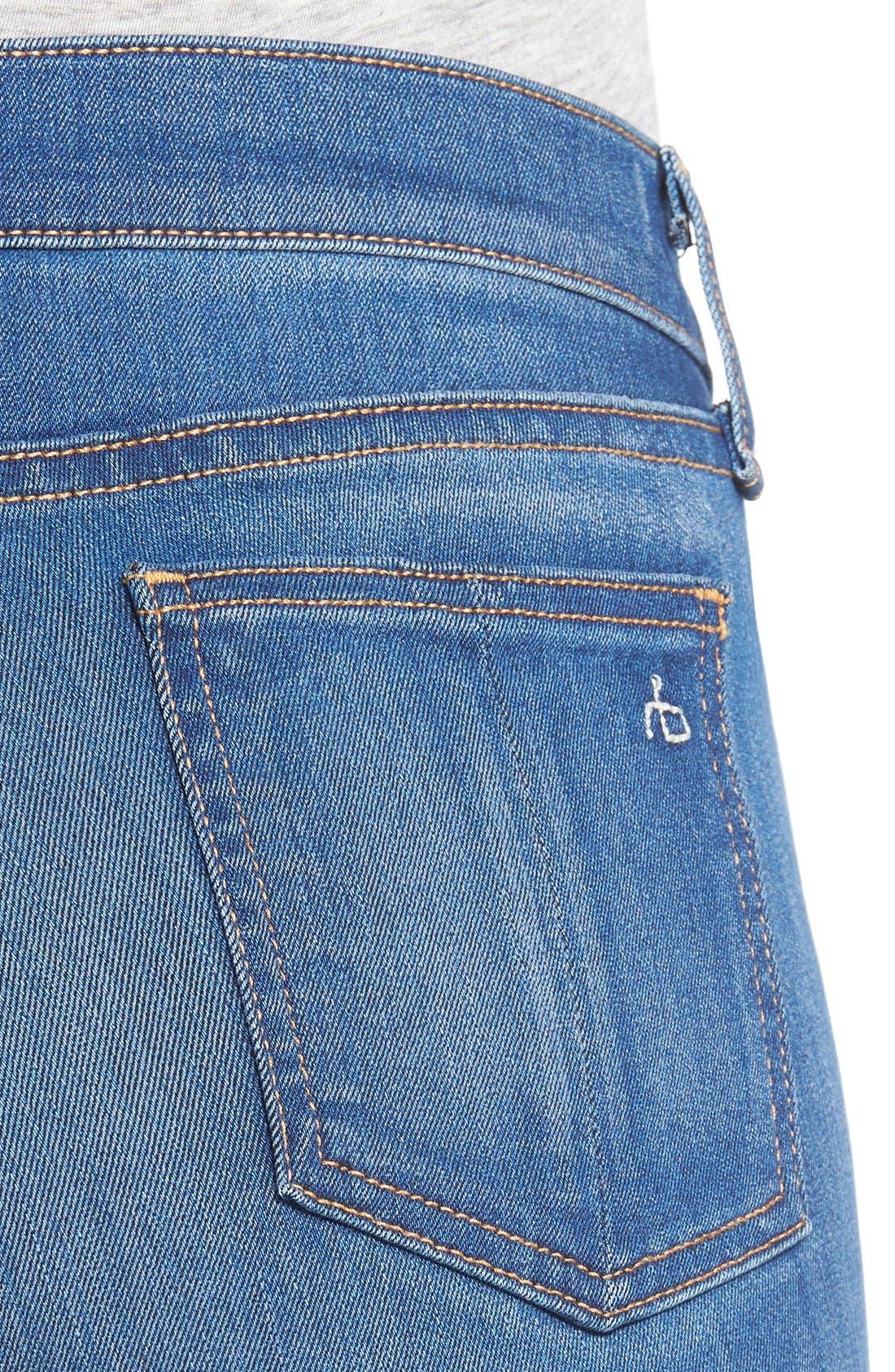 Alternate Image 4  - rag & bone/JEAN High Rise Skinny Jeans (Houston)