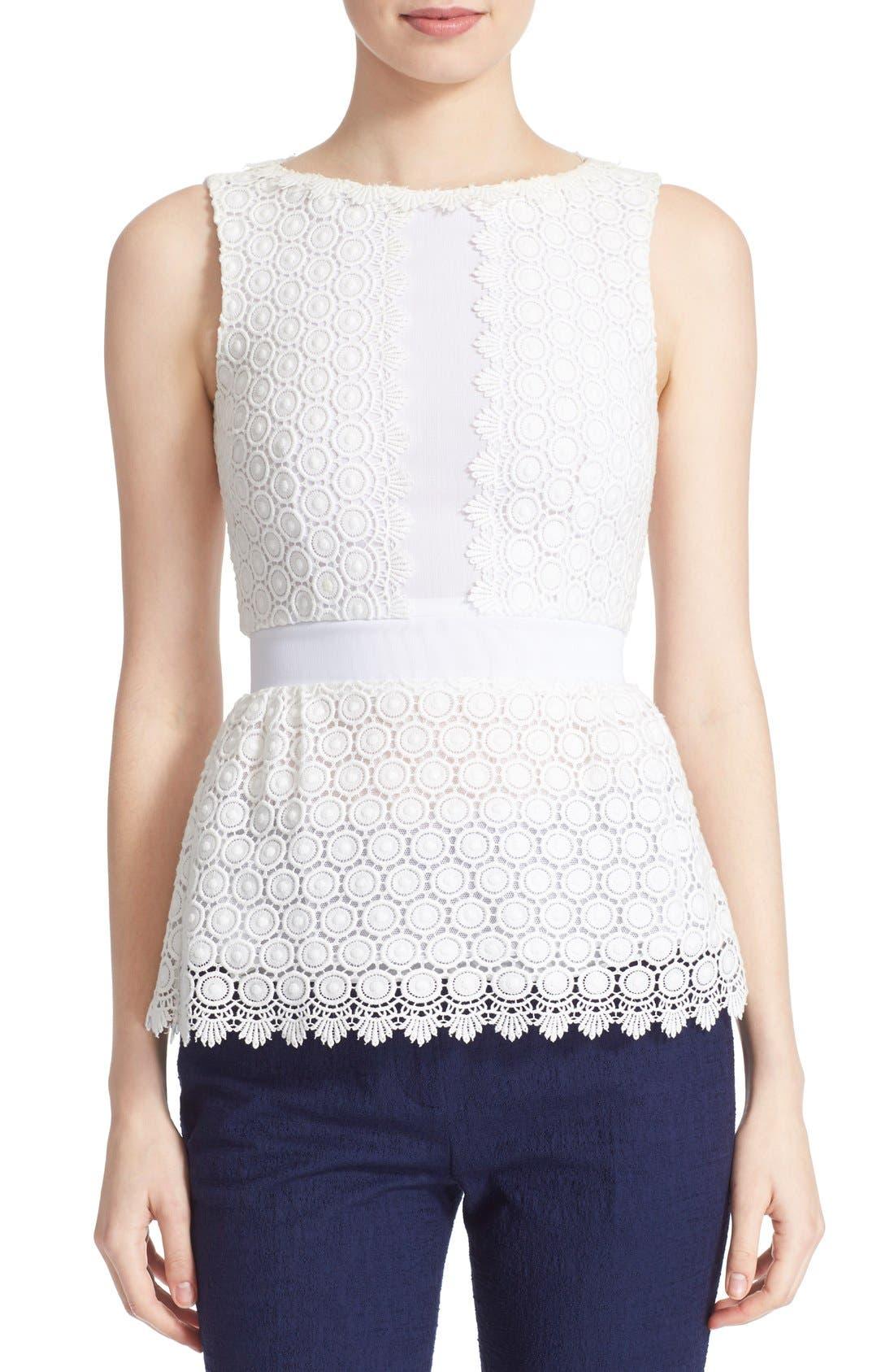Alternate Image 1 Selected - Diane von Furstenberg 'Tavita' Sleeveless Lace Top