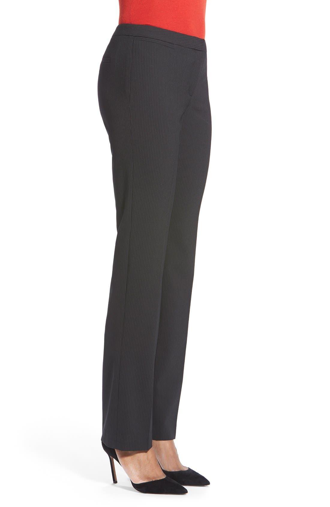 Alternate Image 4  - Halogen® Pinstripe Stretch Suit Pants (Regular & Petite)