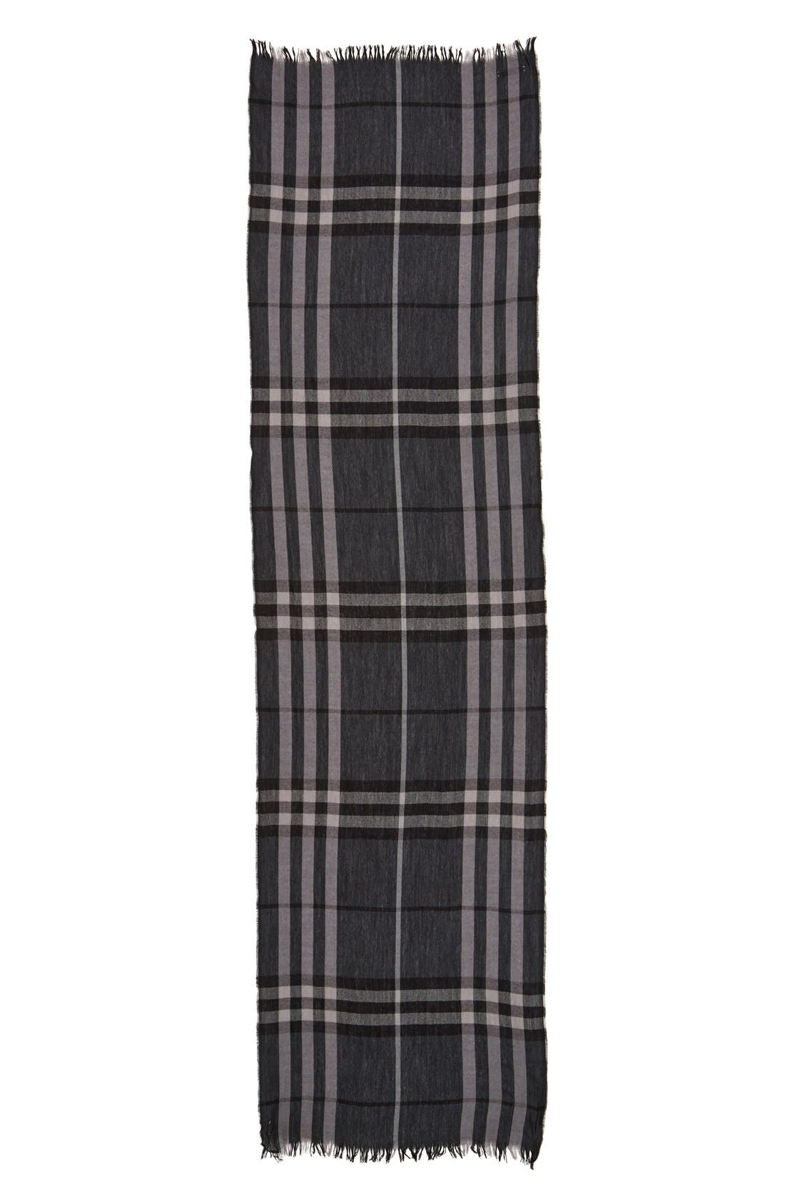 Alternate Image 6  - Burberry Crinkled Merino Wool & Cashmere Scarf