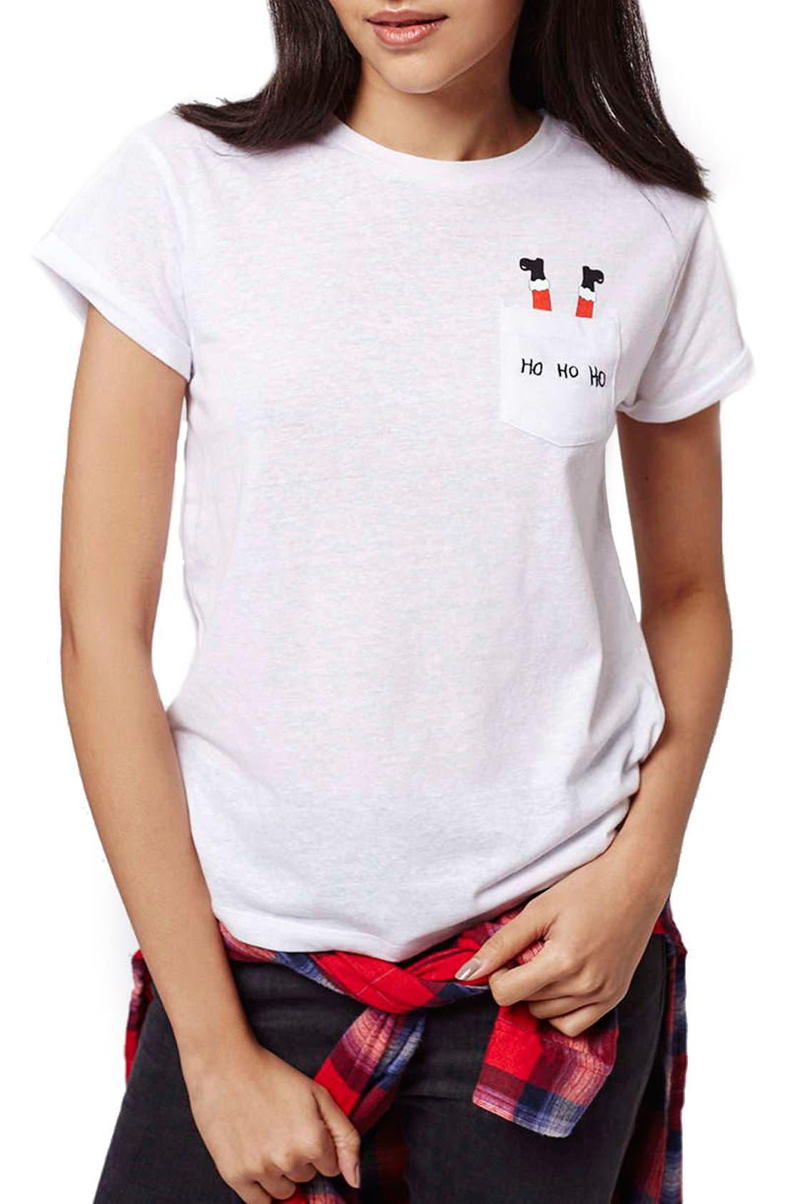 Alternate Image 1 Selected - Topshop Santa Pocket Tee