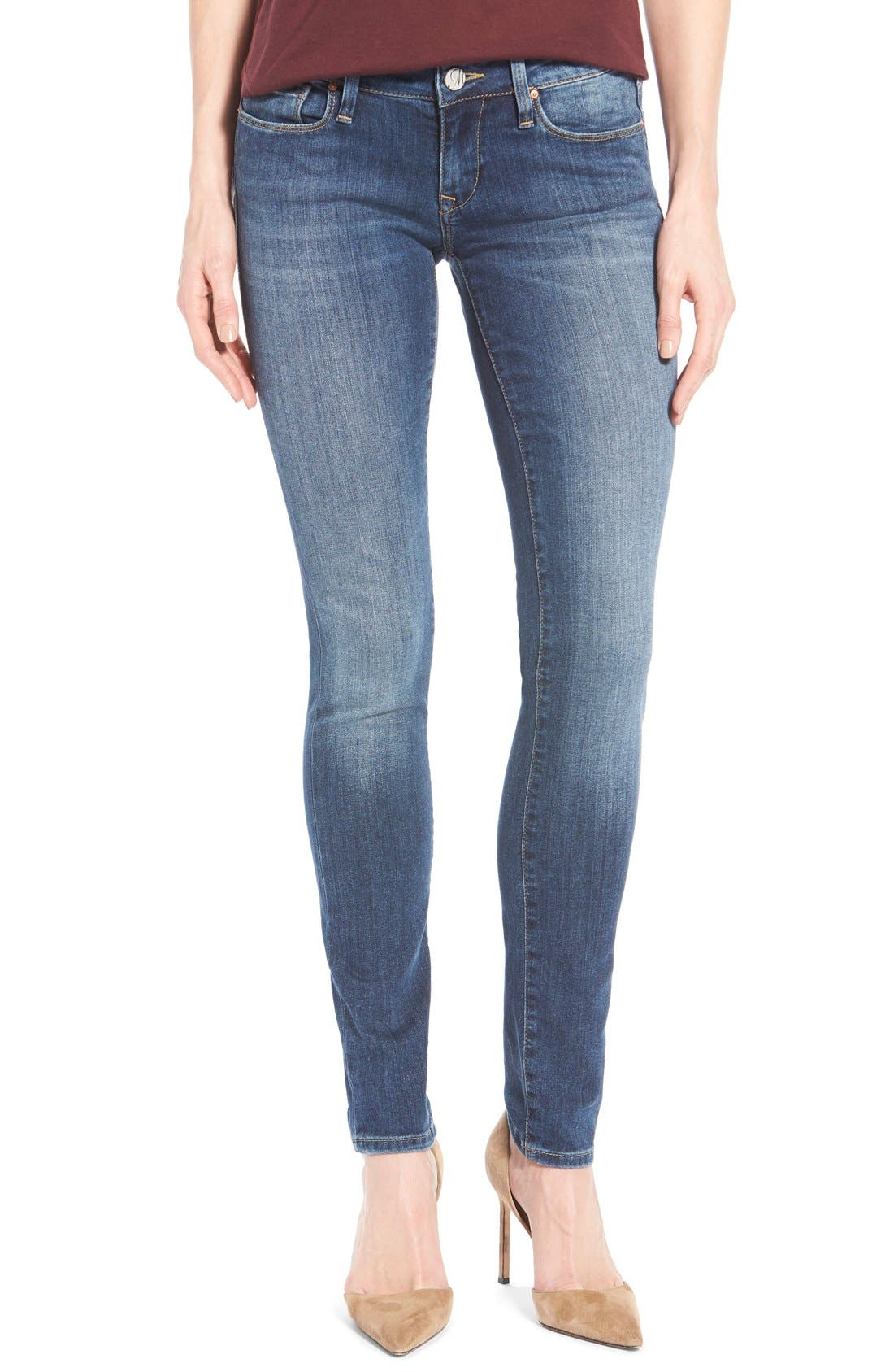 Alternate Image 1 Selected - Mavi Jeans 'Serena' Stretch Low Rise Skinny Jeans (Indigo Nolita)
