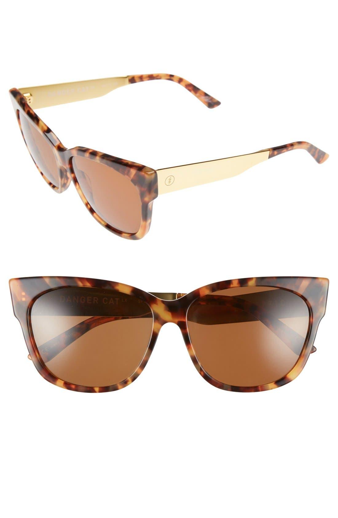 Alternate Image 1 Selected - ELECTRIC 'Danger Cat LX' 59mm Cat Eye Sunglasses