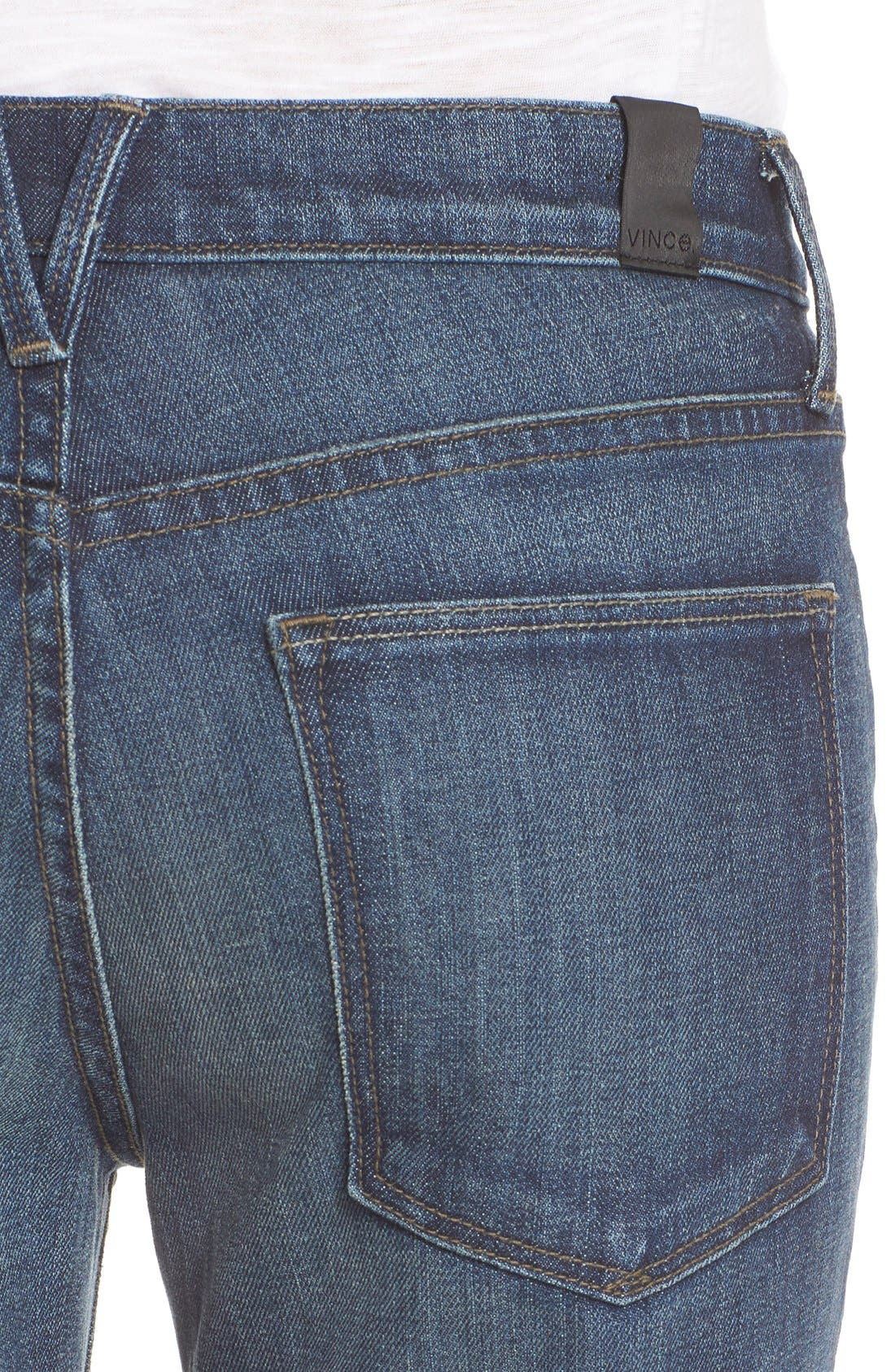 Alternate Image 4  - Vince 'Mason' Relaxed Rolled Jeans (Hyperion Ave)
