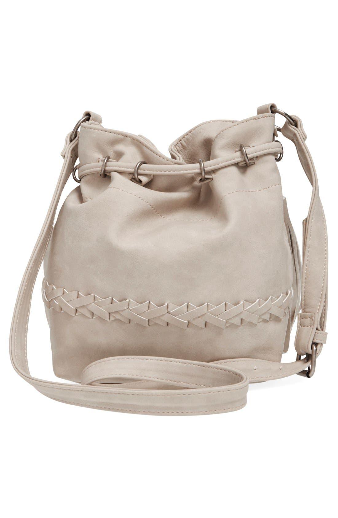 Alternate Image 3  - Dolce Girl Woven Detail Bucket Bag