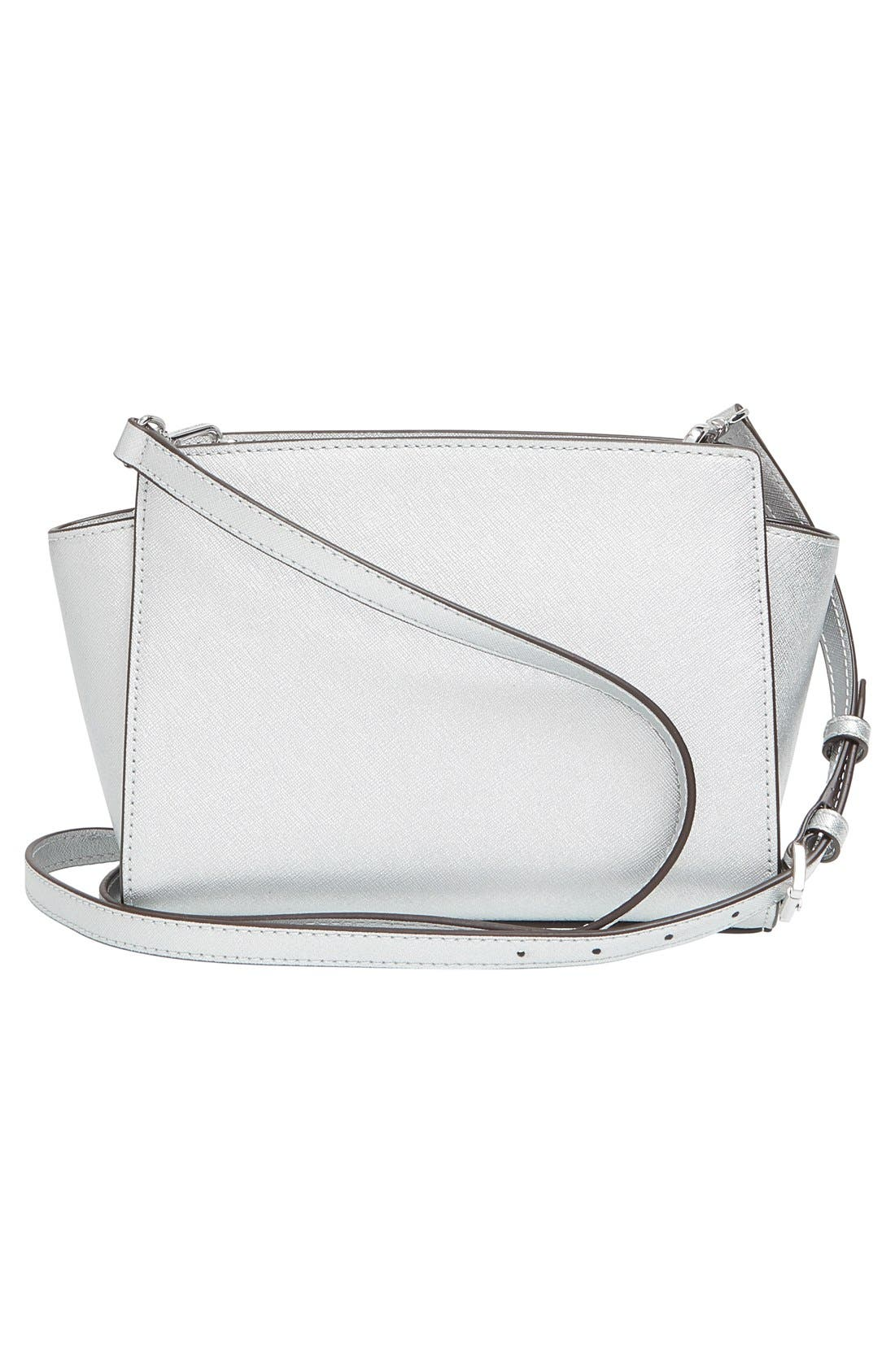 Alternate Image 3  - MICHAEL Michael Kors 'Medium Selma' Metallic Leather Crossbody Bag