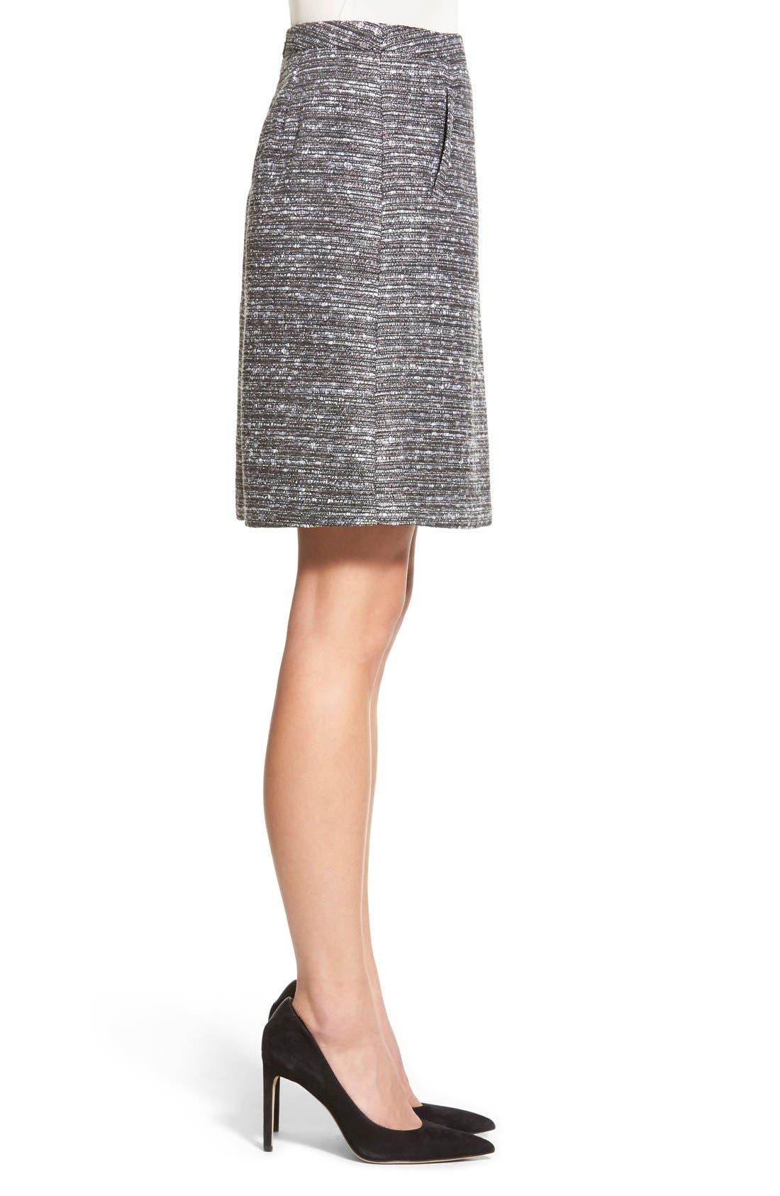 Alternate Image 4  - Halogen® Welt Pocket A-Line Skirt (Regular & Petite)
