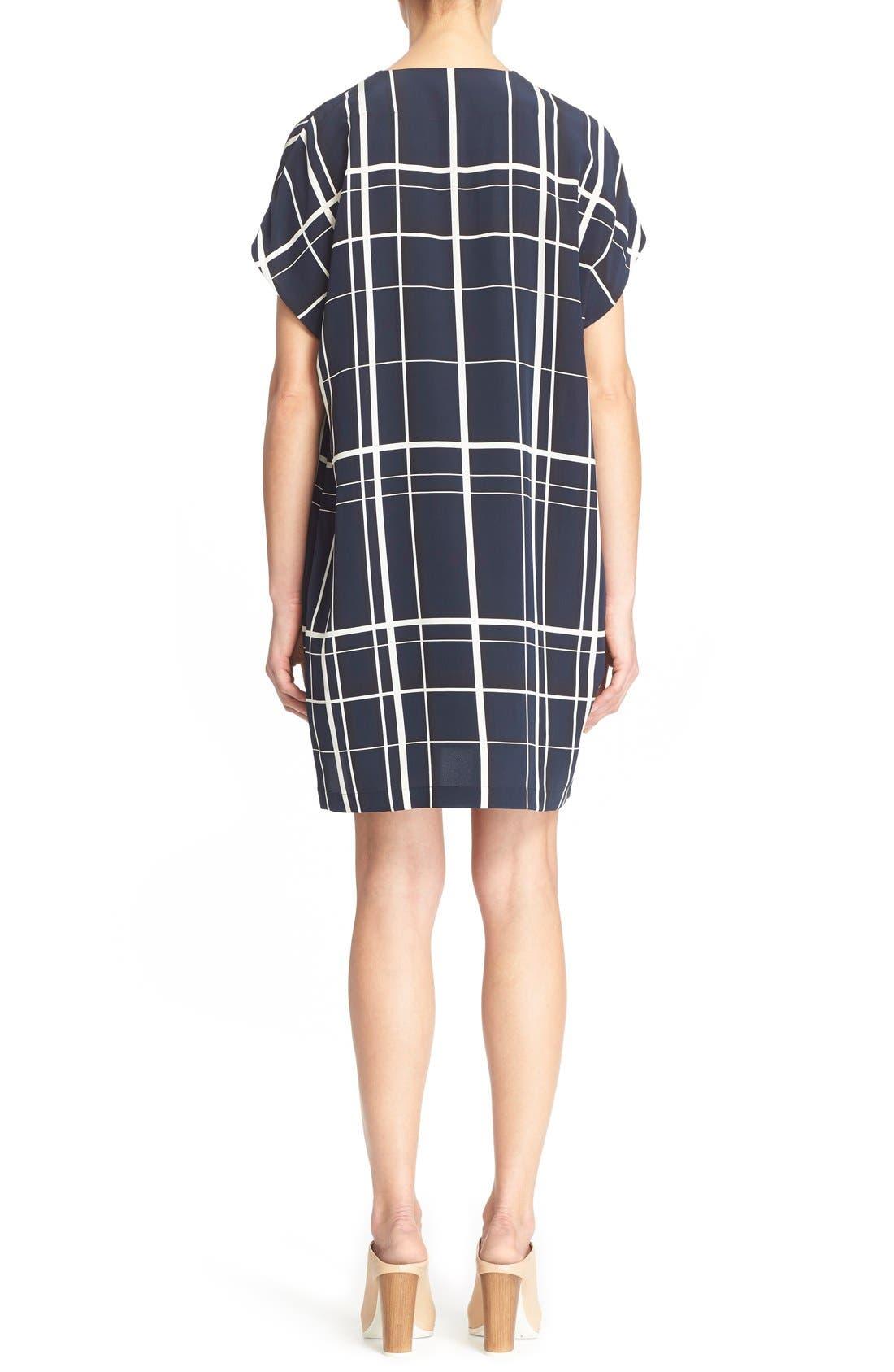 Alternate Image 2  - Vince Lattice Print Silk Shift Dress