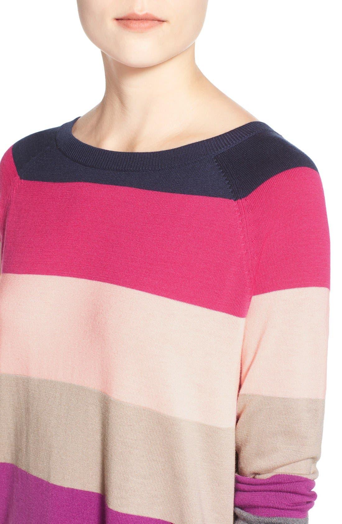 Alternate Image 4  - Caslon® Raglan Crewneck Sweater (Regular & Petite)