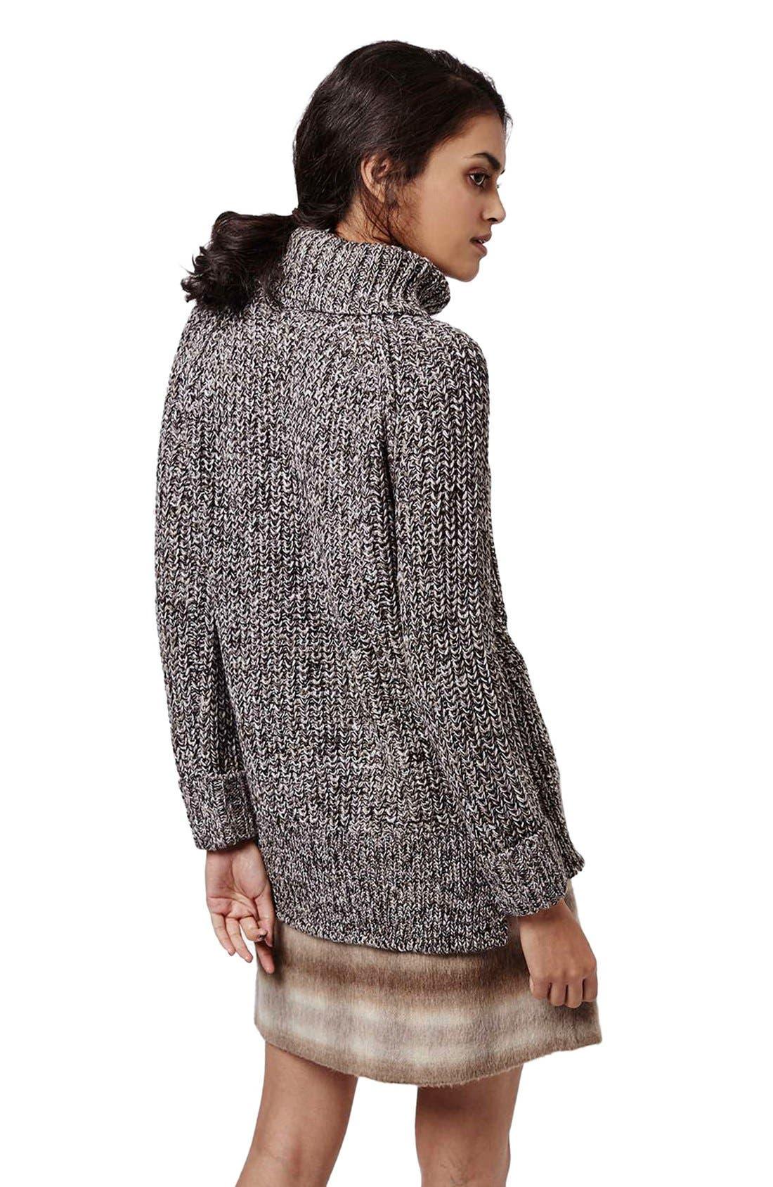 Alternate Image 3  - Topshop Rolled Turtleneck Sweater