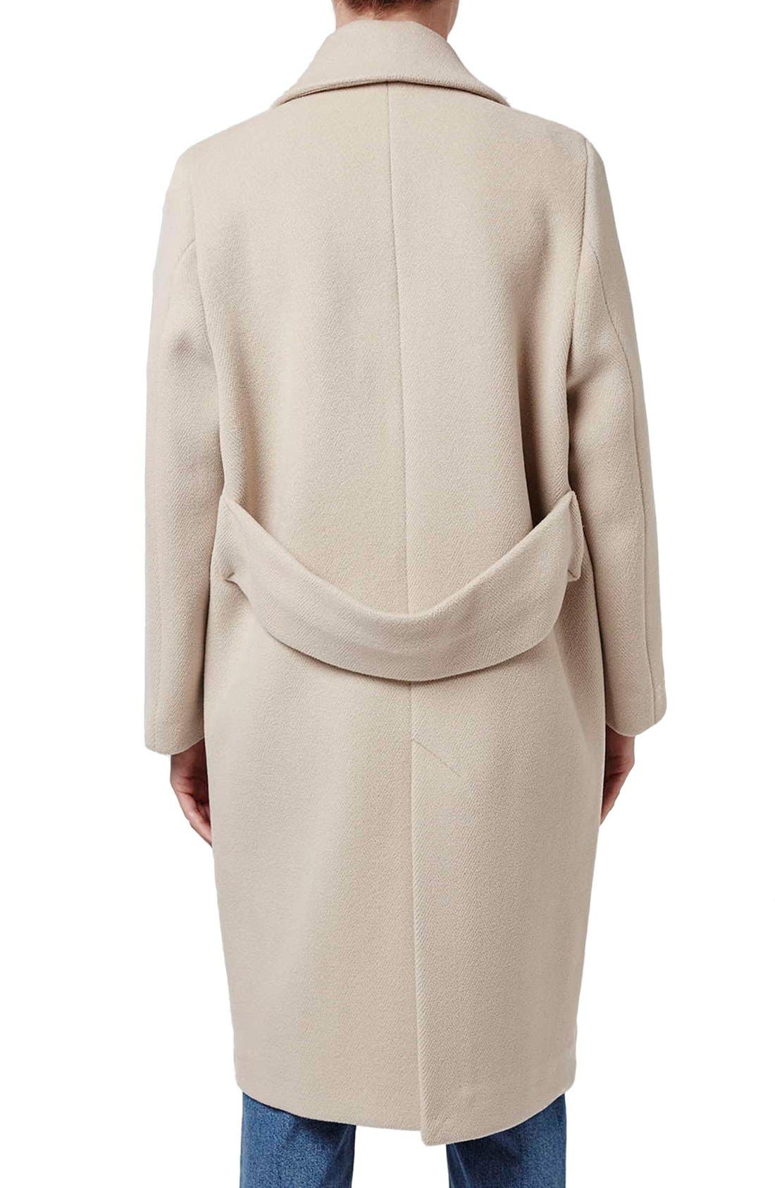Alternate Image 3  - Topshop Boutique Longline Wool Coat