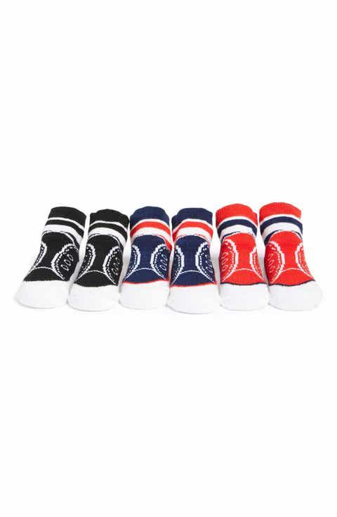 Mud Pie 'Sport' Socks (3-Pack) (Baby)