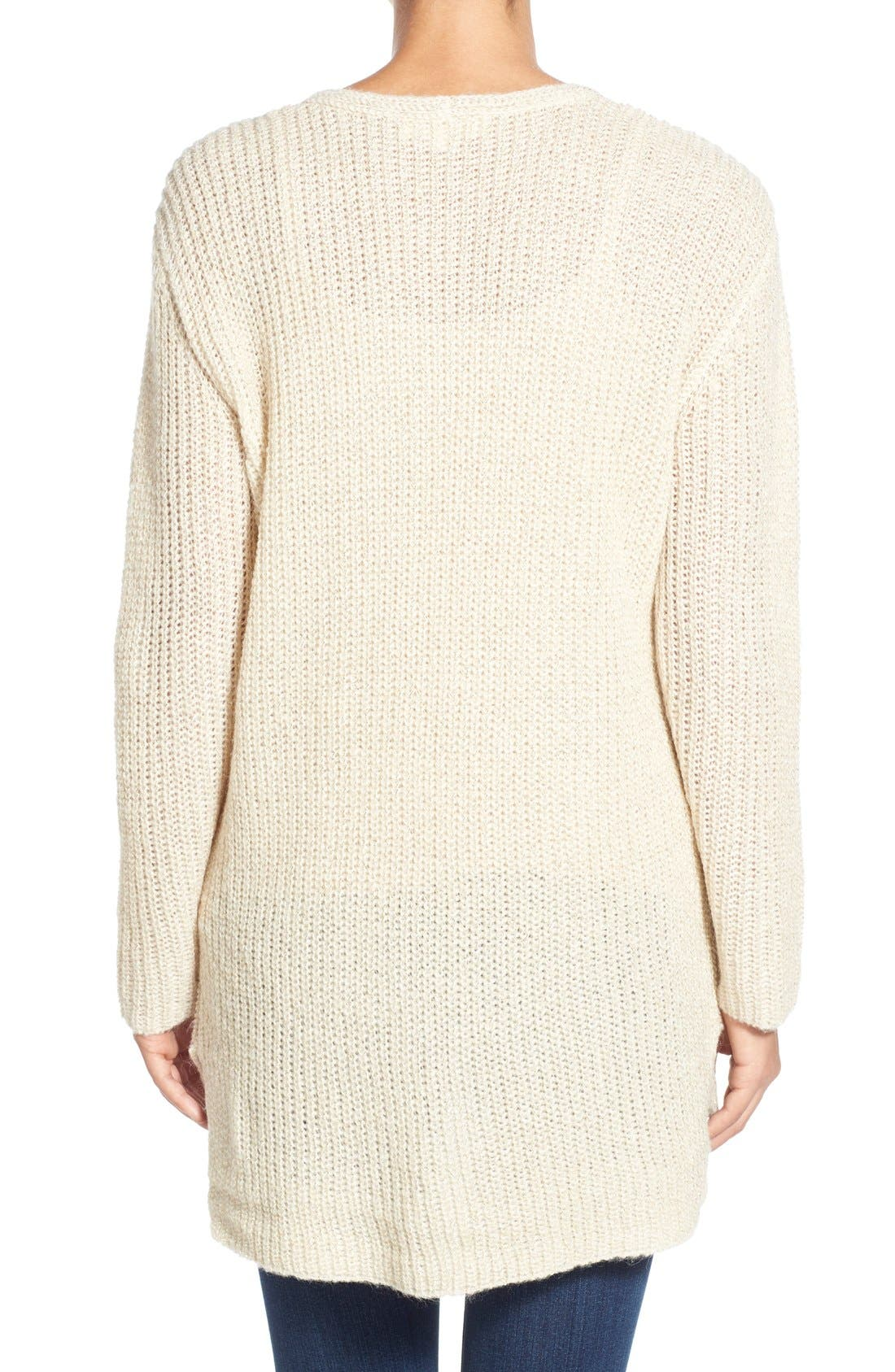Alternate Image 2  - Two by Vince Camuto Metallic Flecked V-Neck Sweater